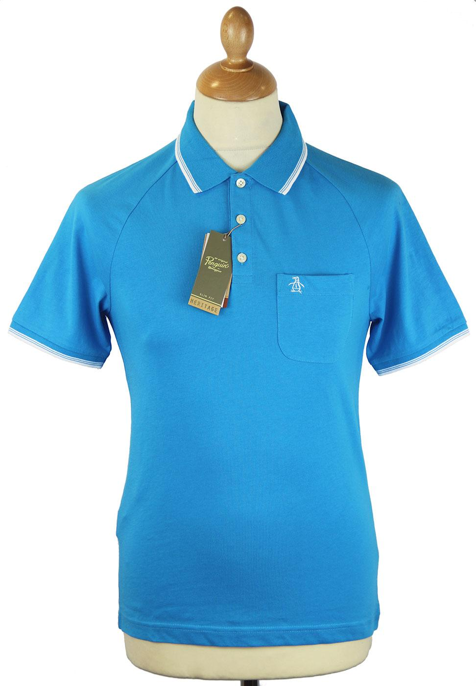 55 Polo ORIGINAL PENGUIN Retro Mod Tipped Polo VB