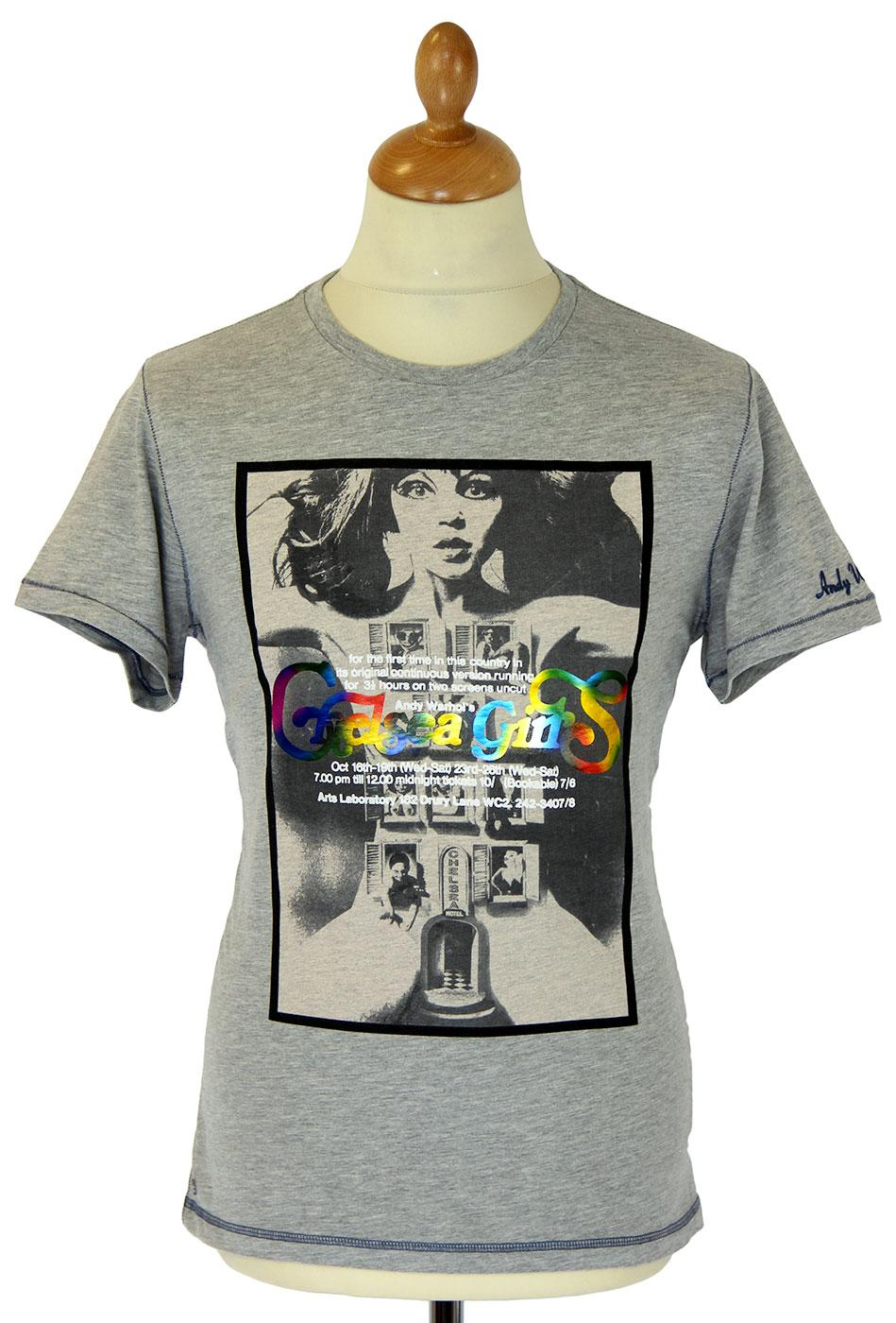 andy warhol by pepe jeans retro chelsea girls poster t shirt. Black Bedroom Furniture Sets. Home Design Ideas