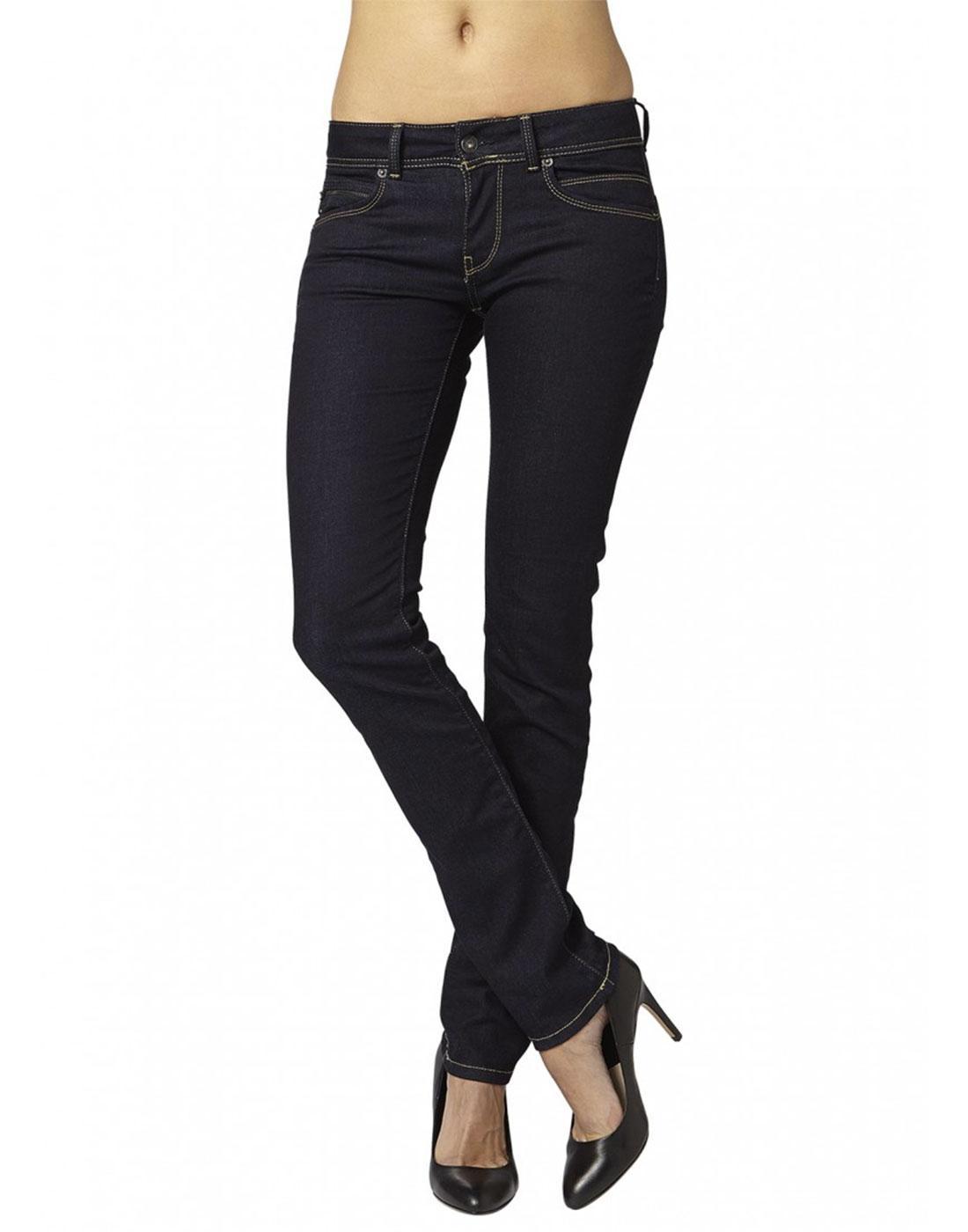 pepe jeans new brooke retro 60s dark denim skinny jeans. Black Bedroom Furniture Sets. Home Design Ideas
