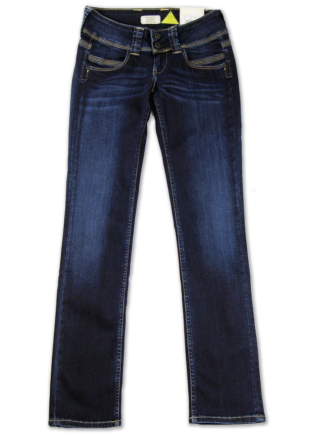 pepe jeans venus retro indie straight leg denim jeans blue. Black Bedroom Furniture Sets. Home Design Ideas