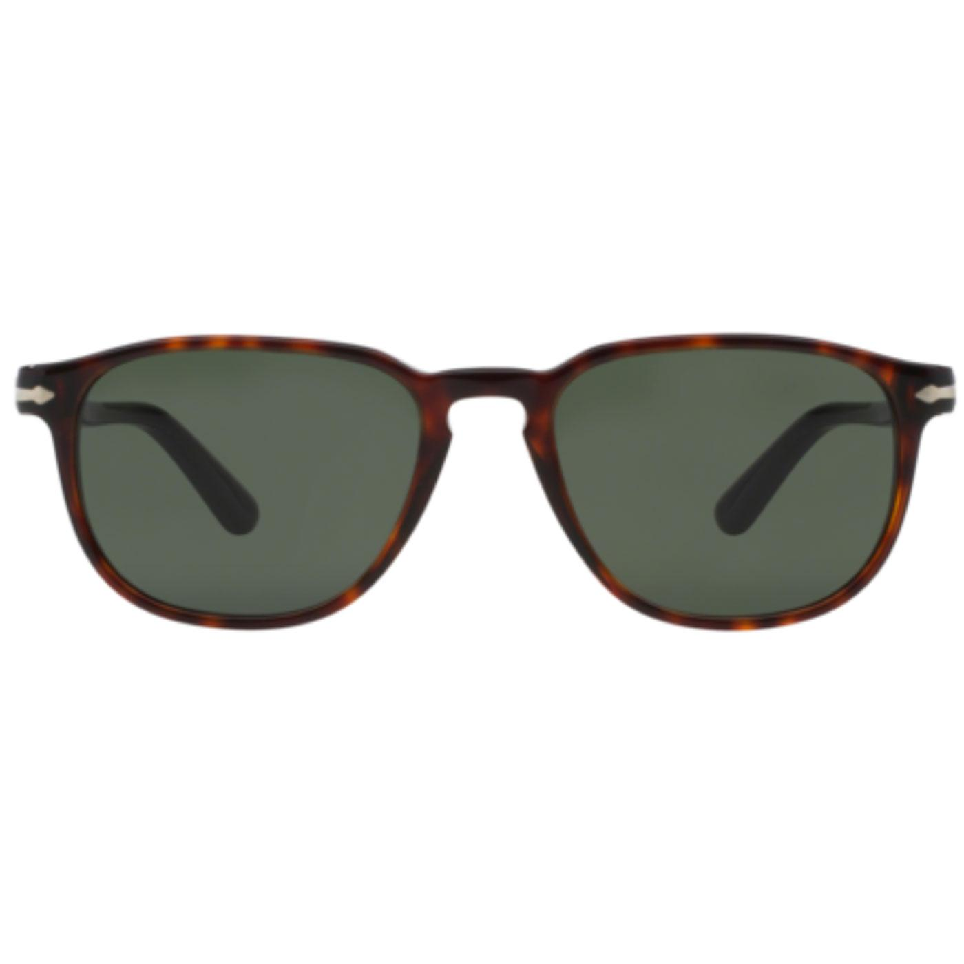 PERSOL Men's Retro 50s Squared Sunglasses Havana
