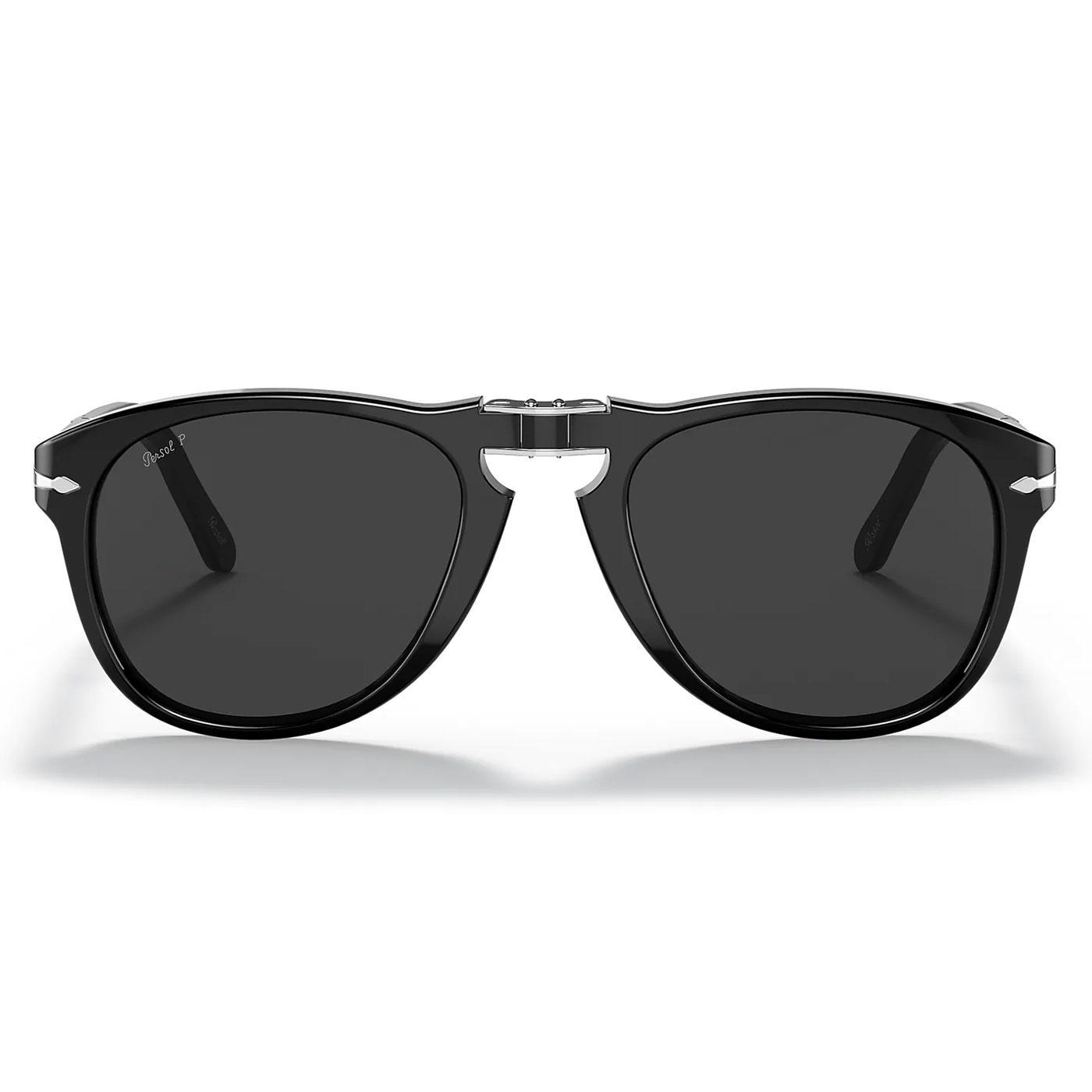 PERSOL Steve McQueen 714SM Sunglasses (Black)