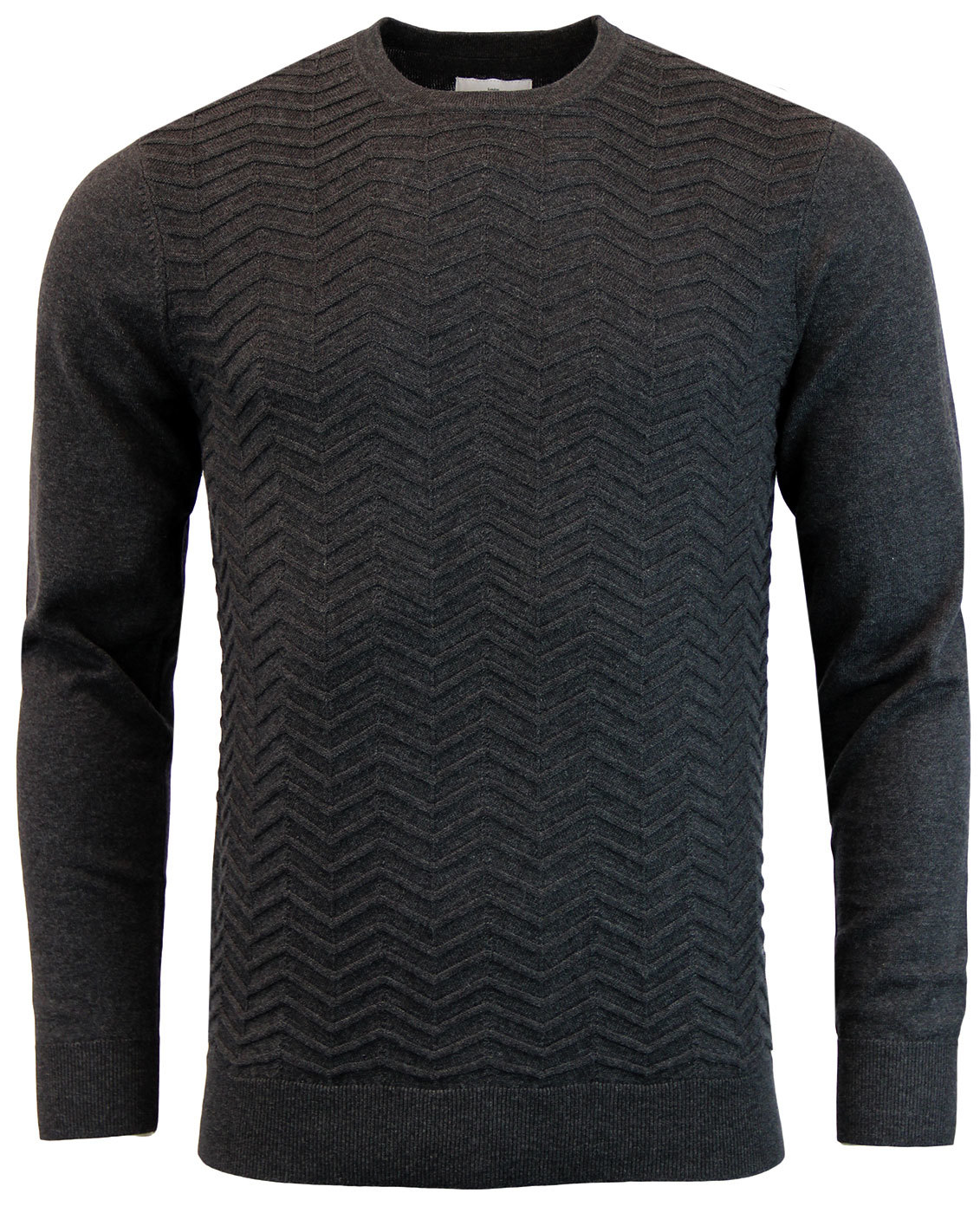 Buddy PETER WERTH Retro Mod Zig Zag Knit Jumper