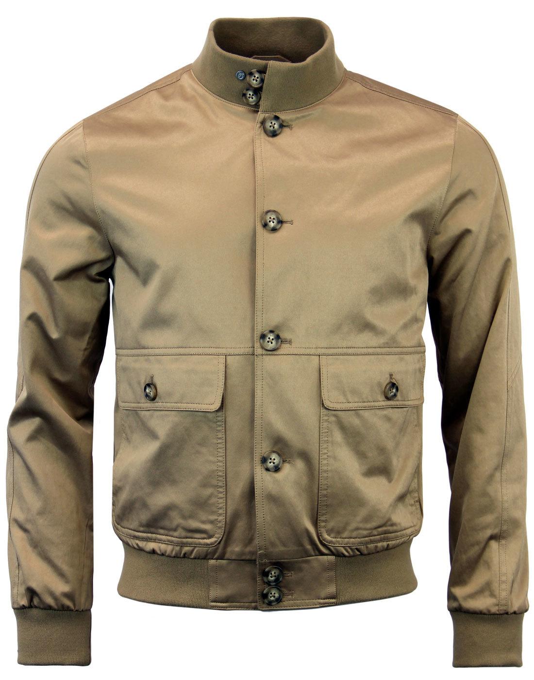 Social PETER WERTH Button Through Bomber Jacket