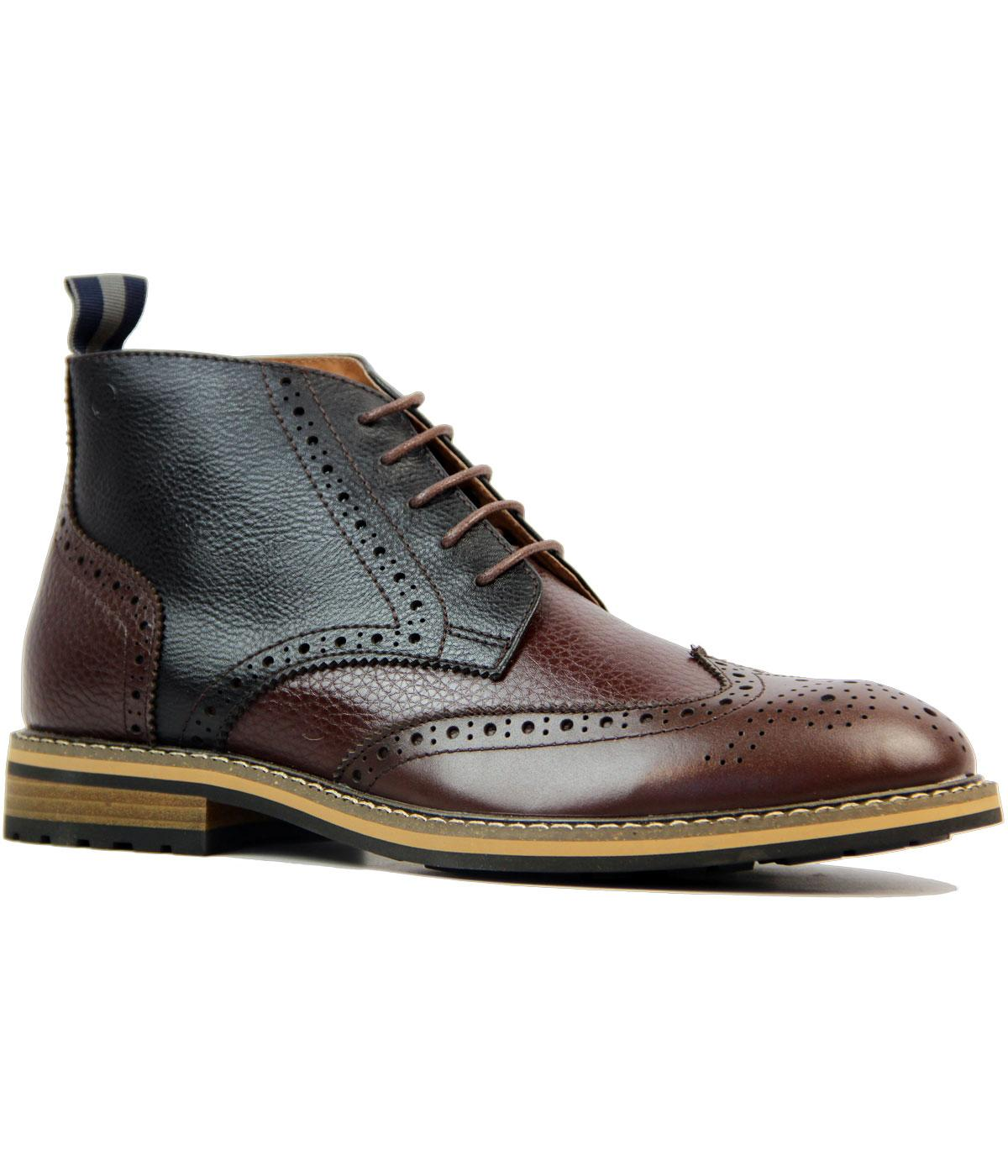 Turnmill PETER WERTH Leather Brogue Chukka Boots