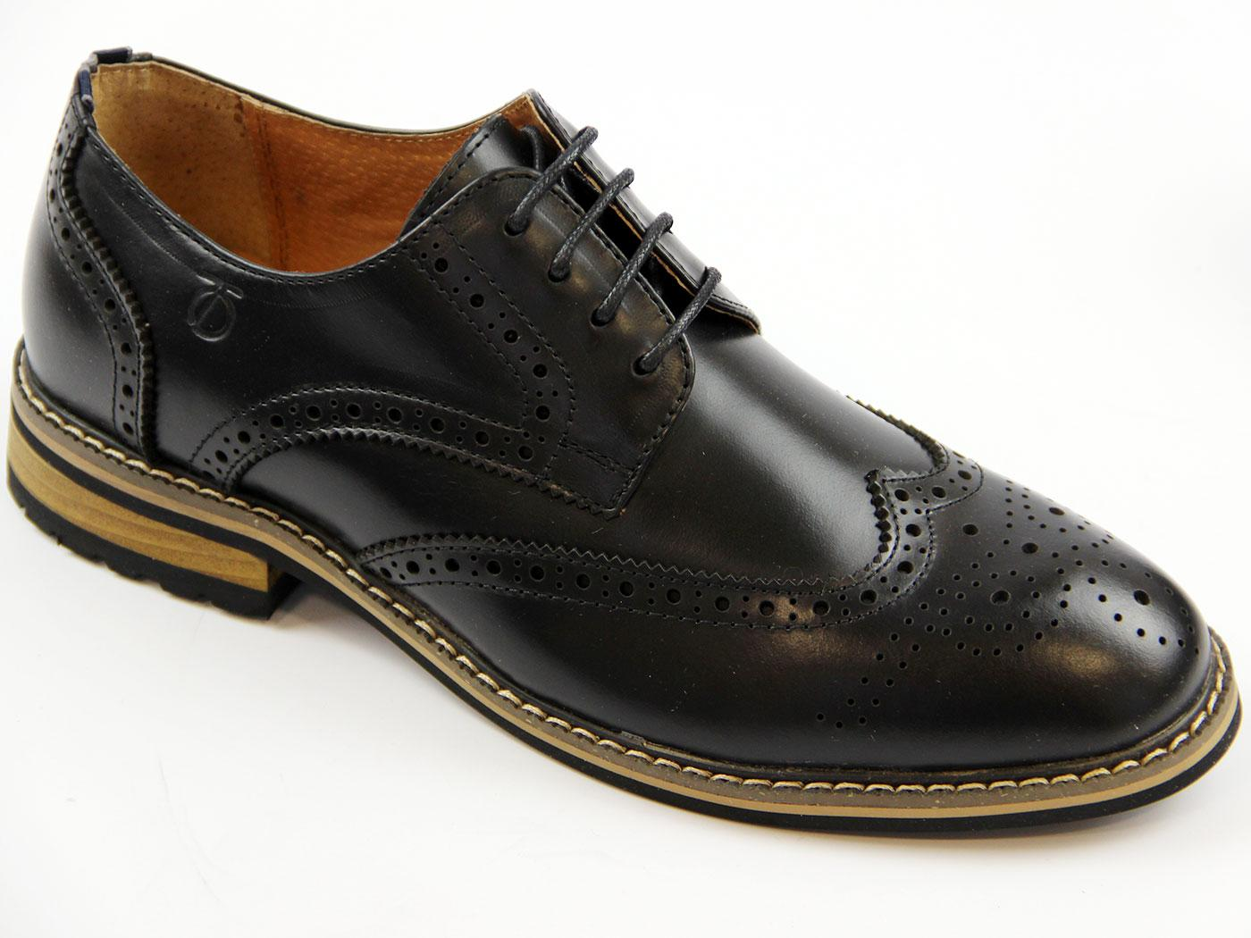 Turnmill PETER WERTH Retro Mod Derby Brogues BLACK