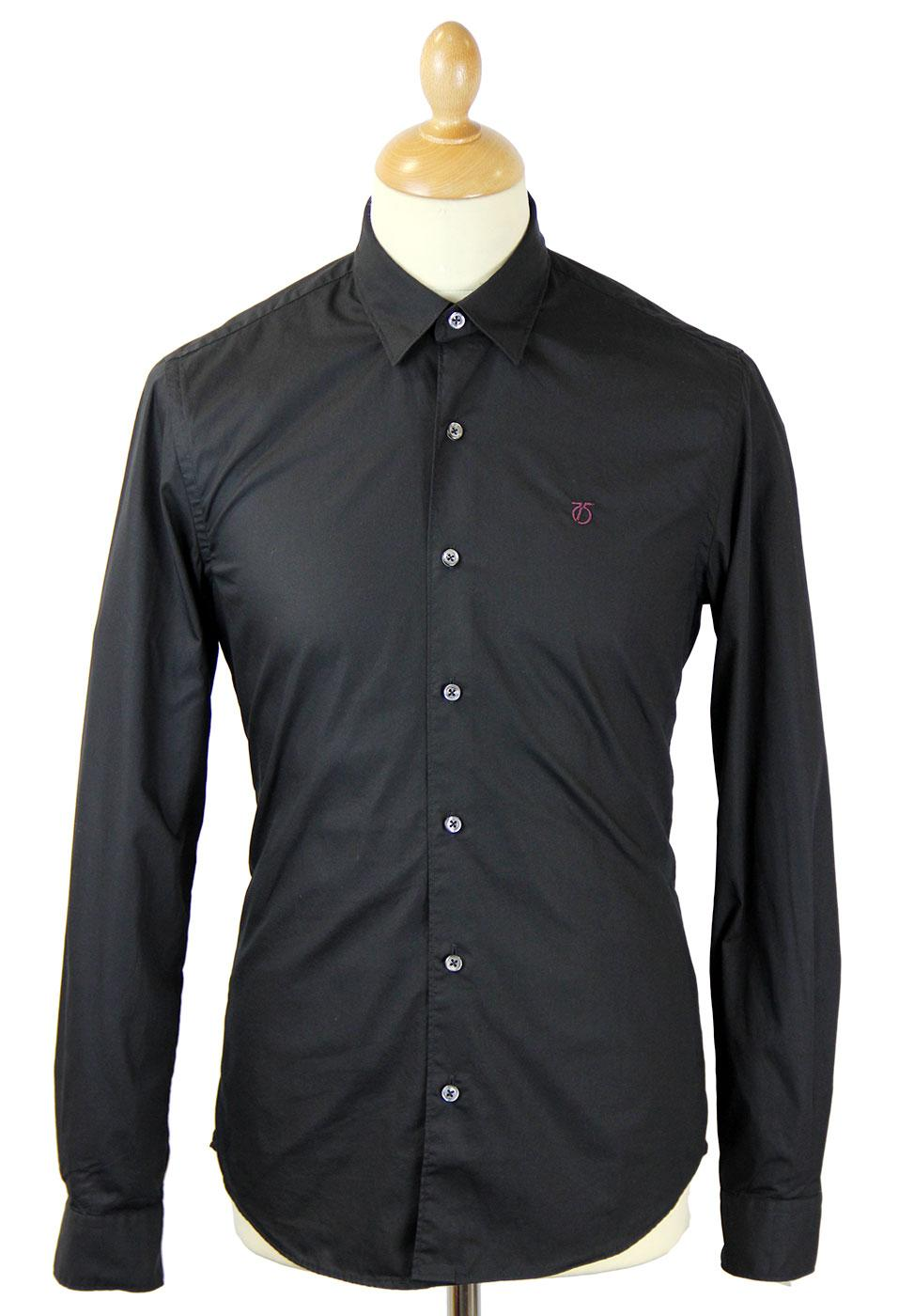 PETER WERTH Mod Concealed Button Down Shirt (B)