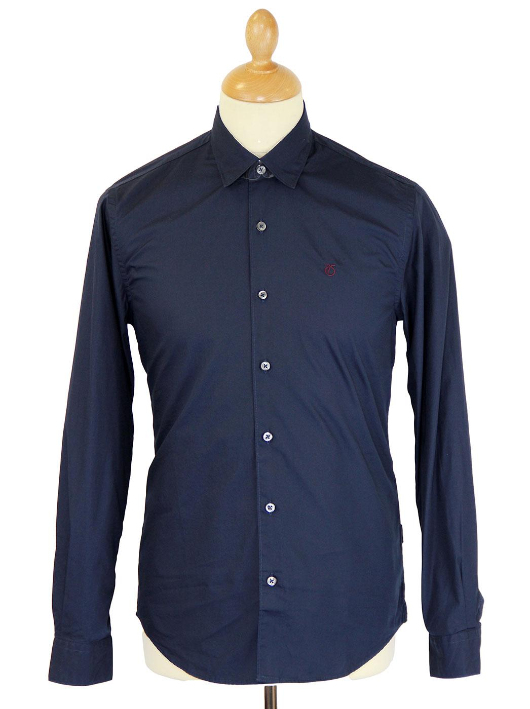 PETER WERTH Mod Concealed Button Down Shirt (N)