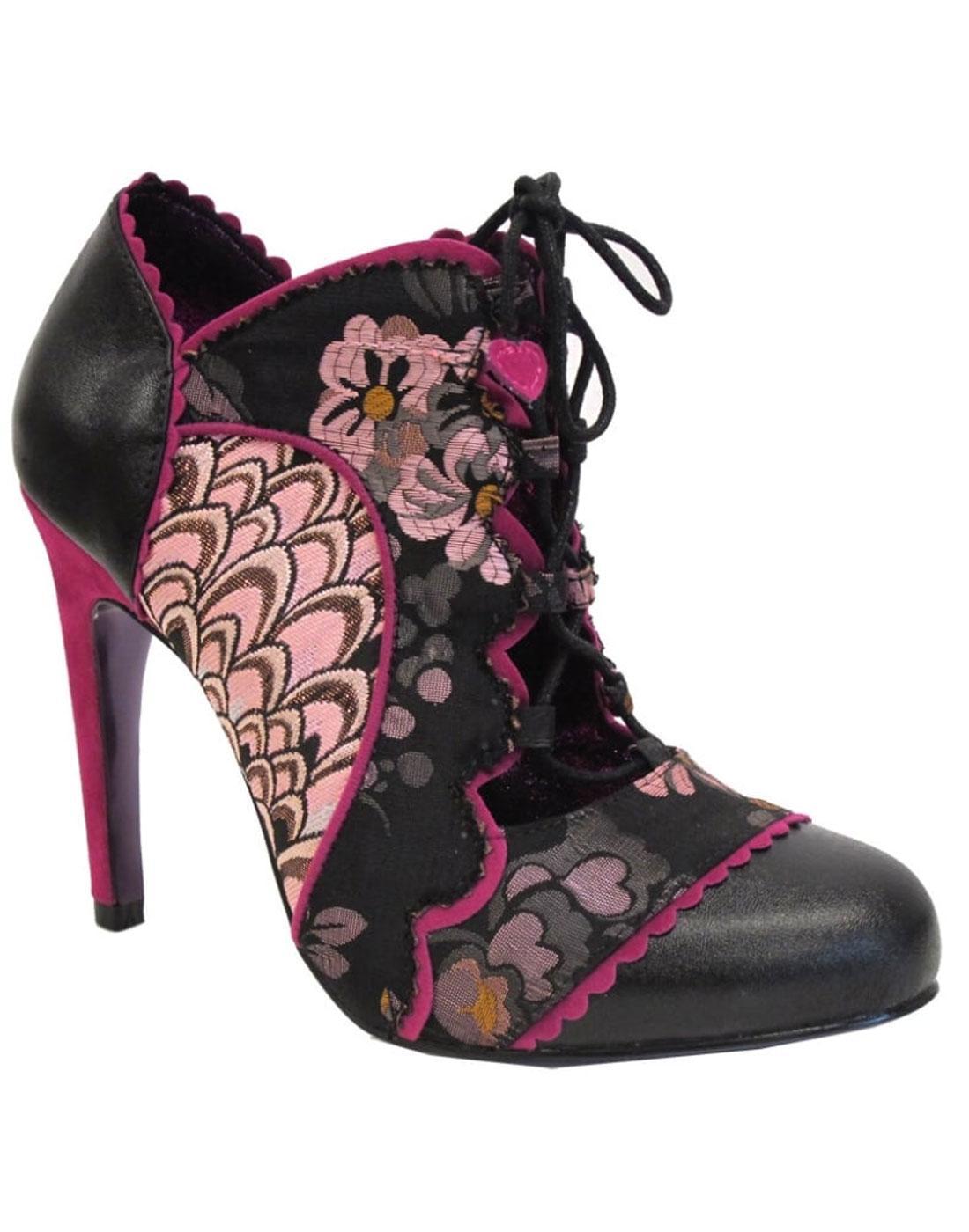 Halston POETIC LICENCE Open Front Floral Heels (P)