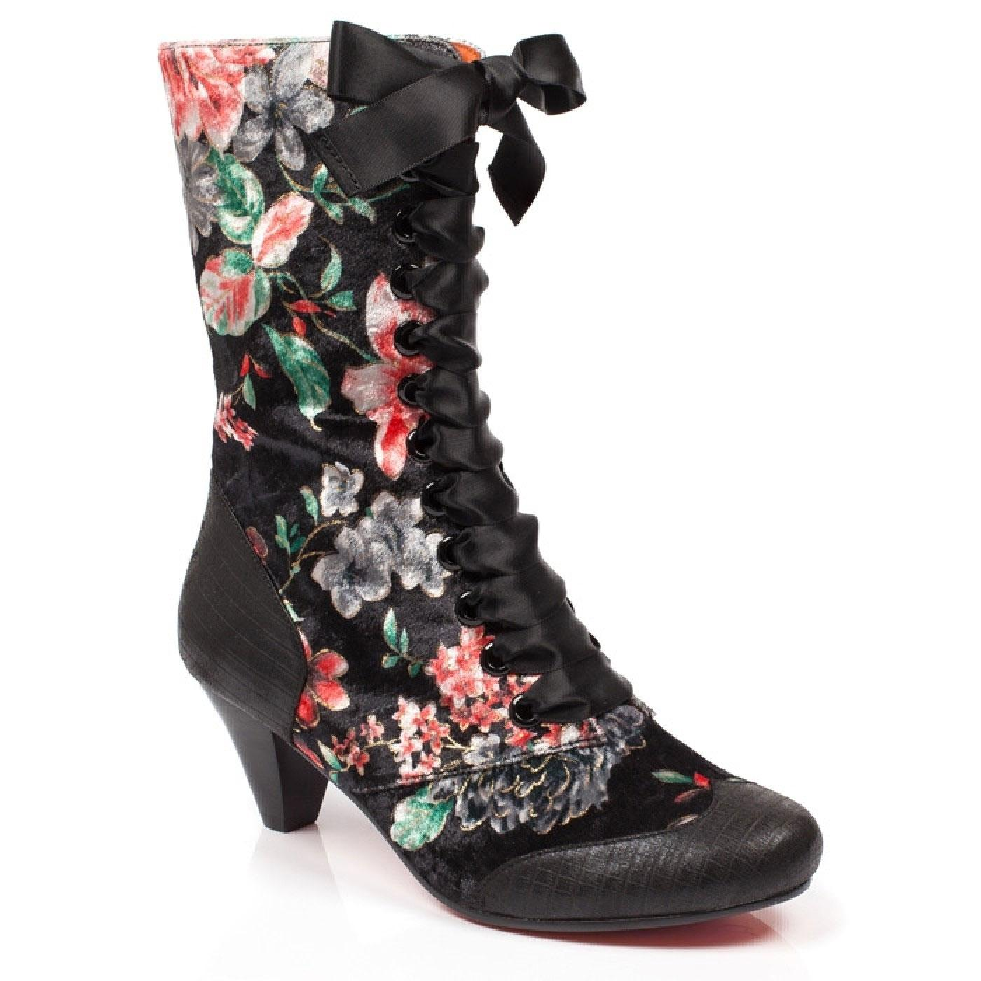 Lady Victoria POETIC LICENCE Floral Painted Boots