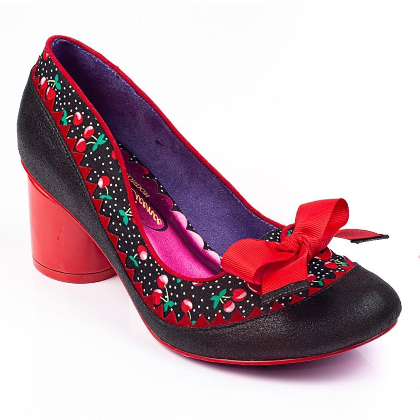 Mitzi IRREGULAR CHOICE Vintage Cherry Heels Black