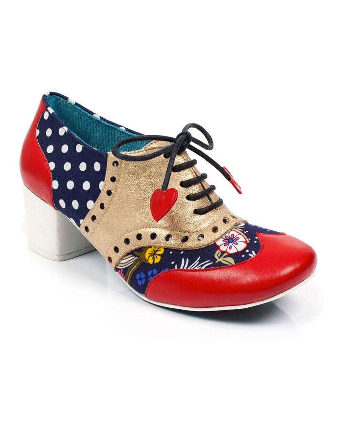 Clara Bow POETIC LICENCE Polka Dot Brogue Heels R