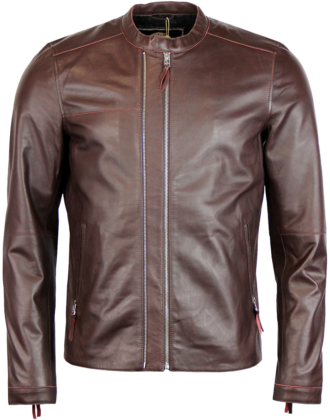 Pretty Green 'Cardale' belted leather biker style jacket. Crafted from % black leather, there isn't a leather biker jacket much better than this! A Mod essential, a fantastic Retro take on a classic biker jacket.