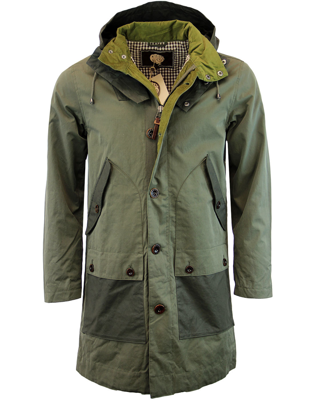 PRETTY GREEN Ashburn Retro 60s Mod Parka Jacket