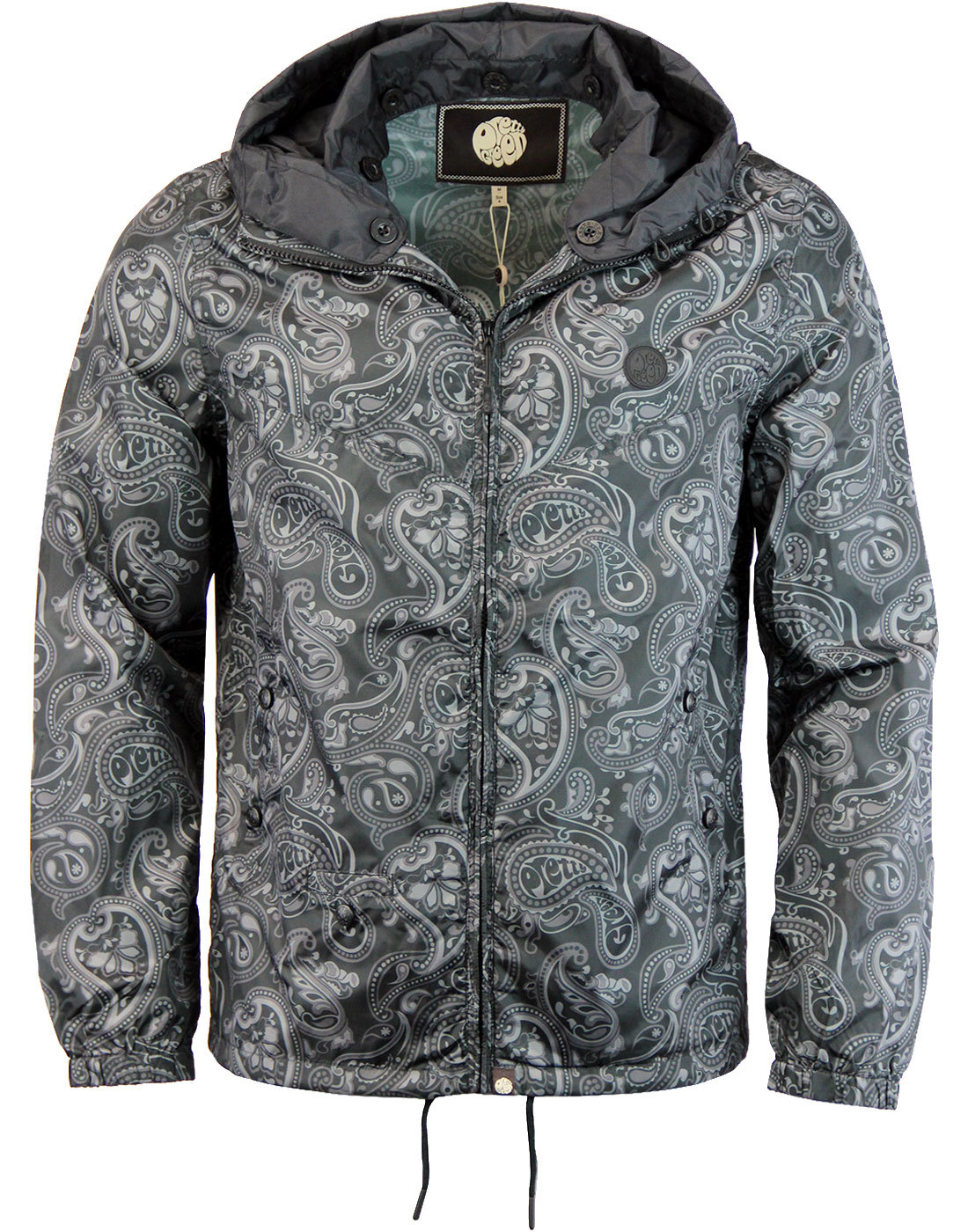 Ashworth PRETTY GREEN 60s Paisley Hooded Jacket B