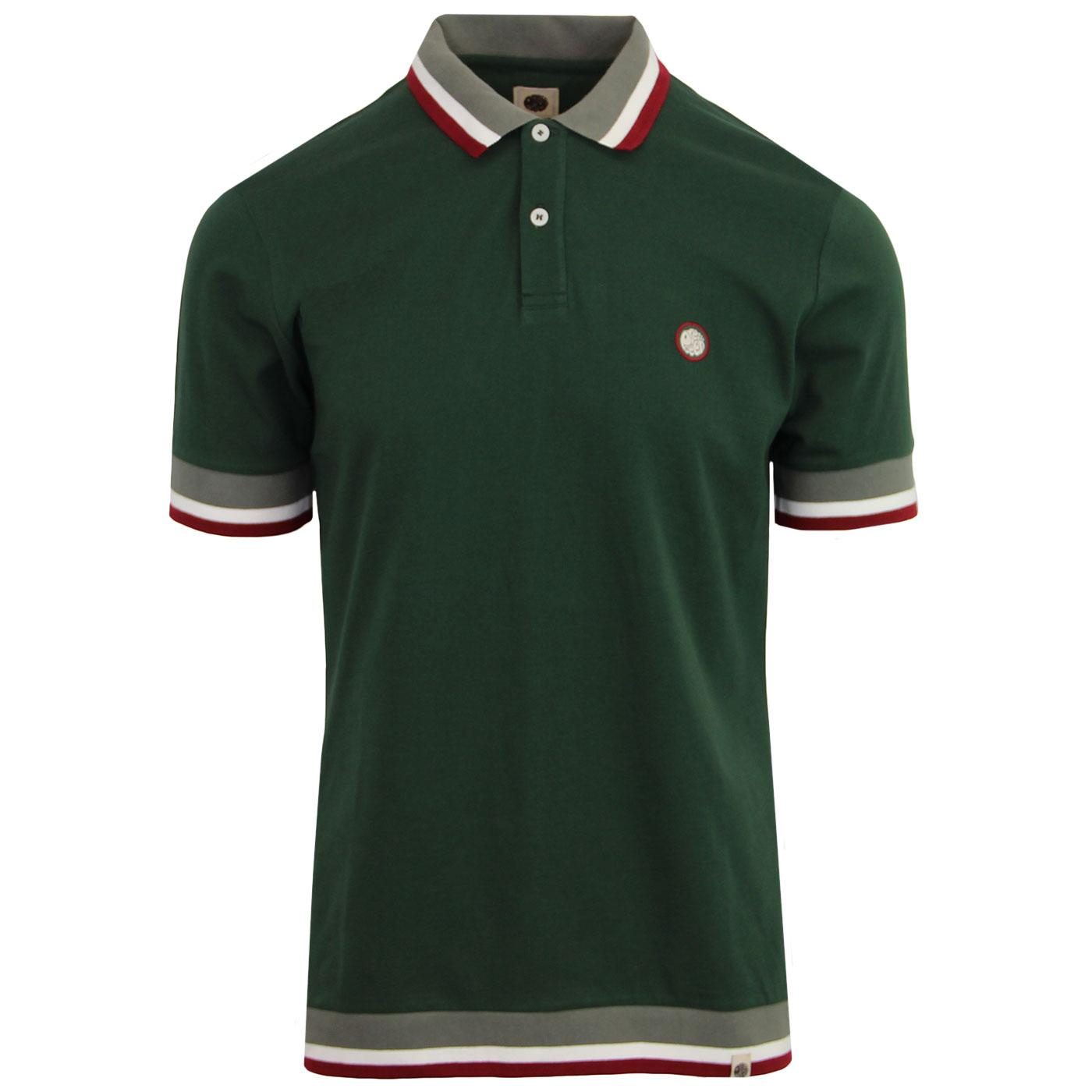 Fairbrook PRETTY GREEN  Mod Autostripe Trim Polo G