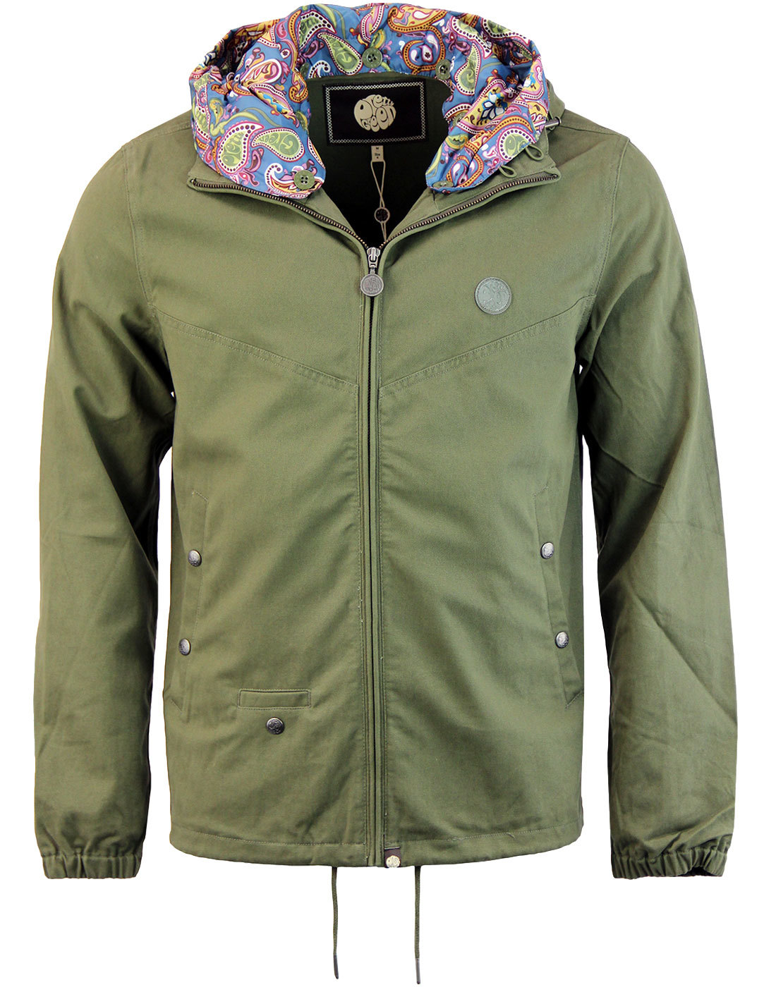 Beckford PRETTY GREEN Retro Hooded Jacket KHAKI
