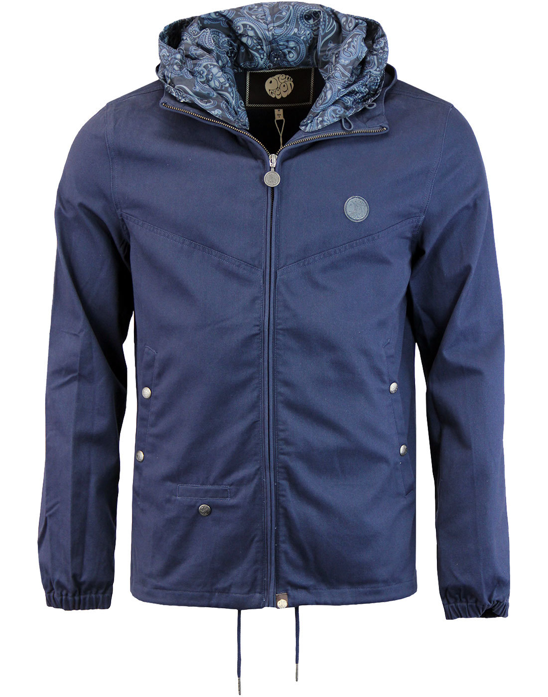 Beckford PRETTY GREEN 60s Hooded Jacket NAVY