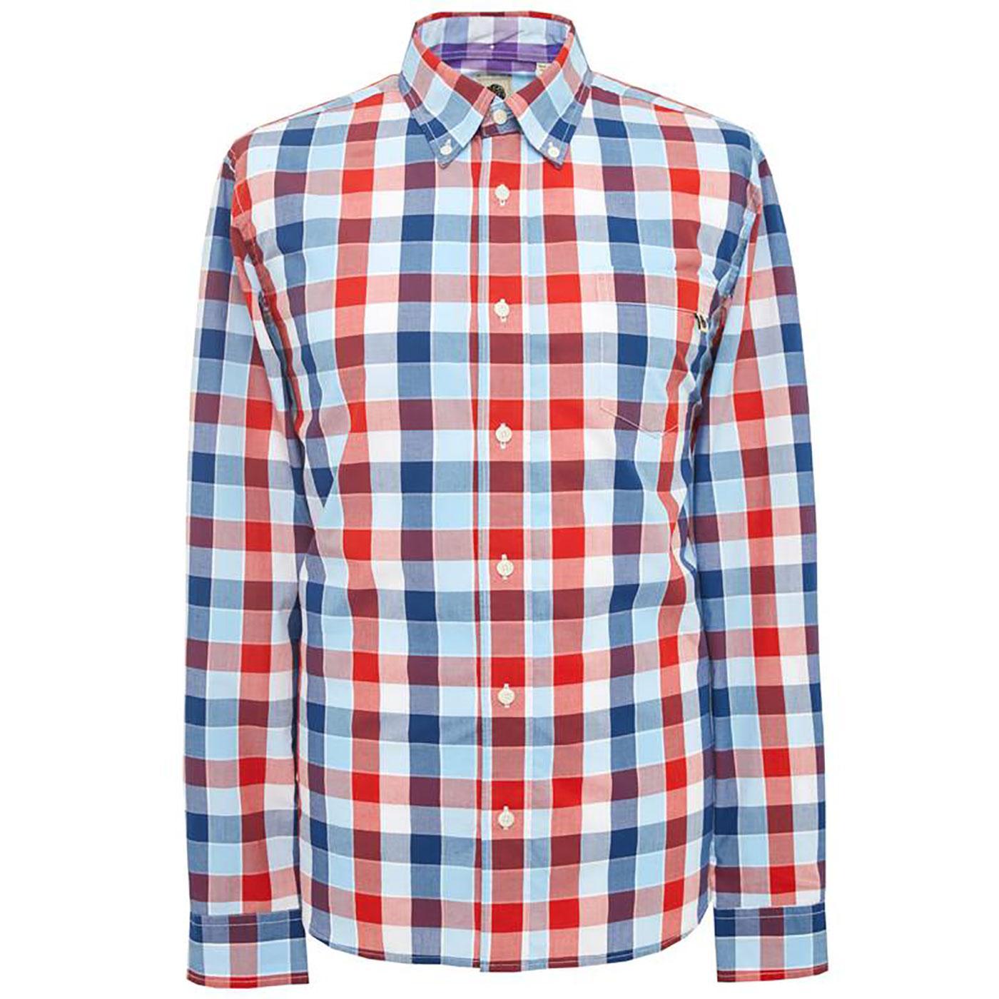 PRETTY GREEN Mens Classic Retro Bold Check Shirt N