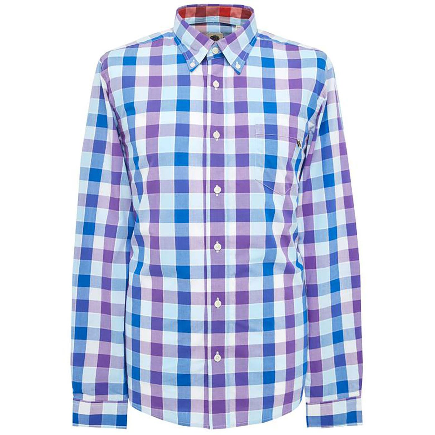 PRETTY GREEN Men's Classic Retro Bold Check Shirt