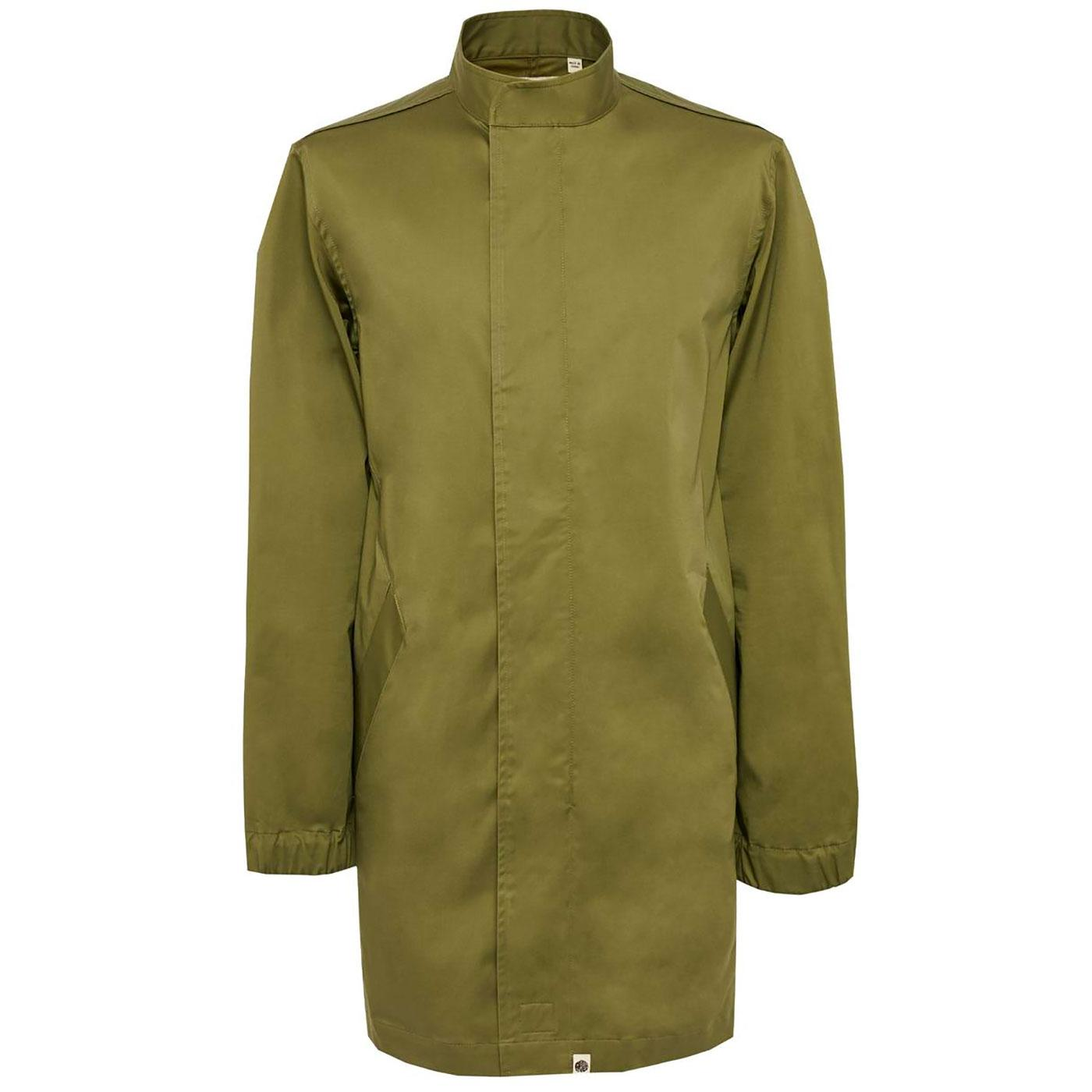PRETTY GREEN Mod Collarless Zip Up Mac Jacket (K)