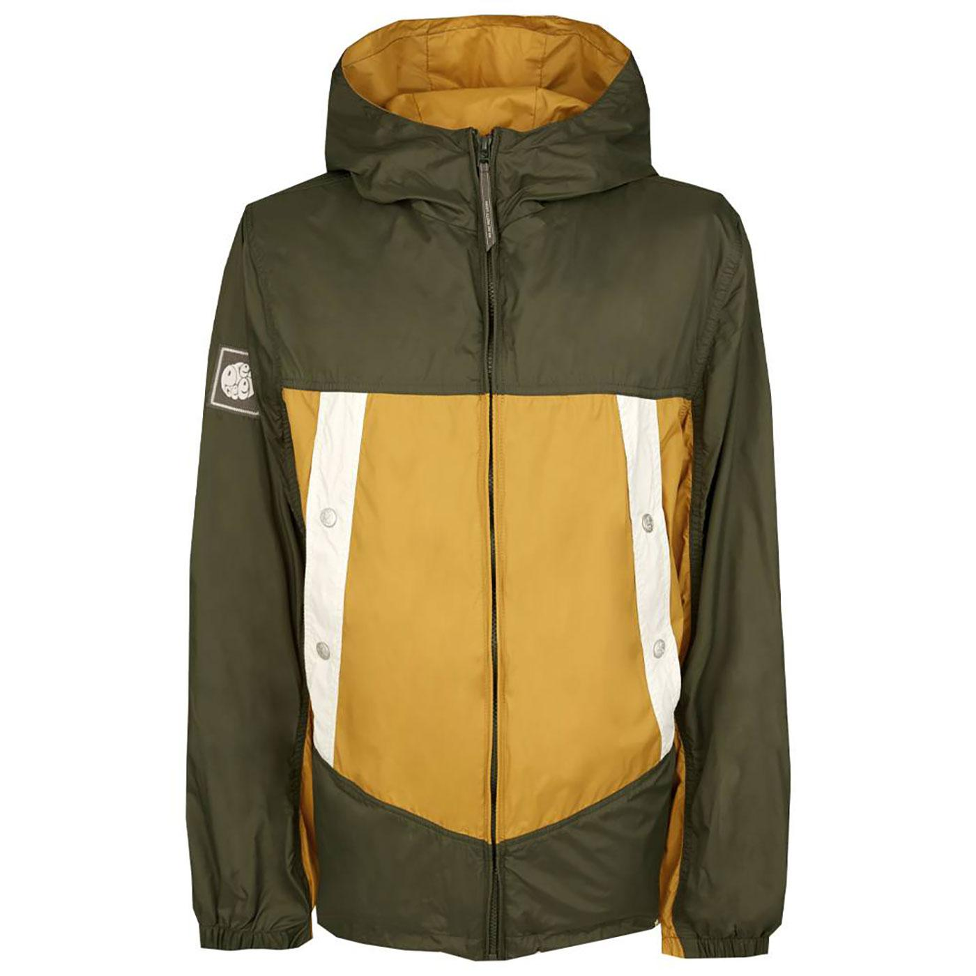 PRETTY GREEN Retro Colour Block Hooded Jacket G