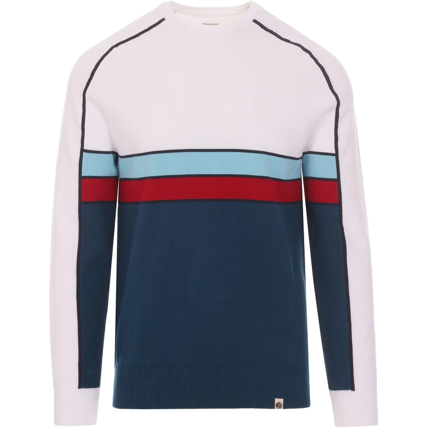 PRETTY GREEN Retro Contrast Panel Knitted Jumper W
