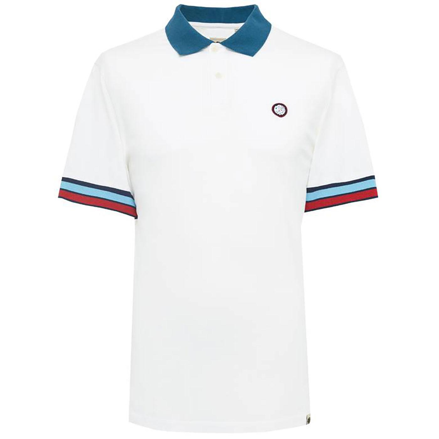 PRETTY GREEN Retro Mod Contrast Stripe Cuff Polo W