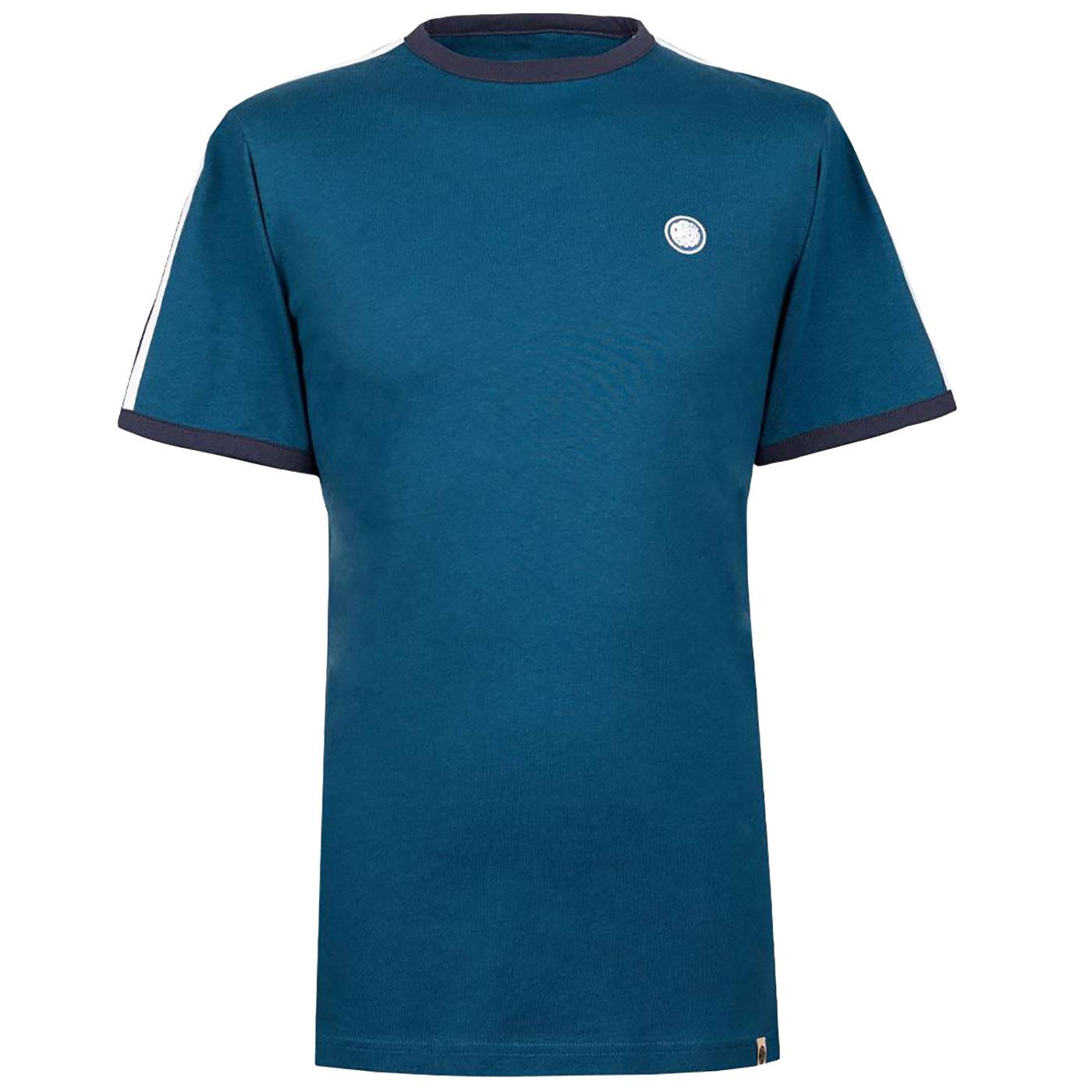PRETTY GREEN Mens Retro Contrast Sleeve Stripe Tee