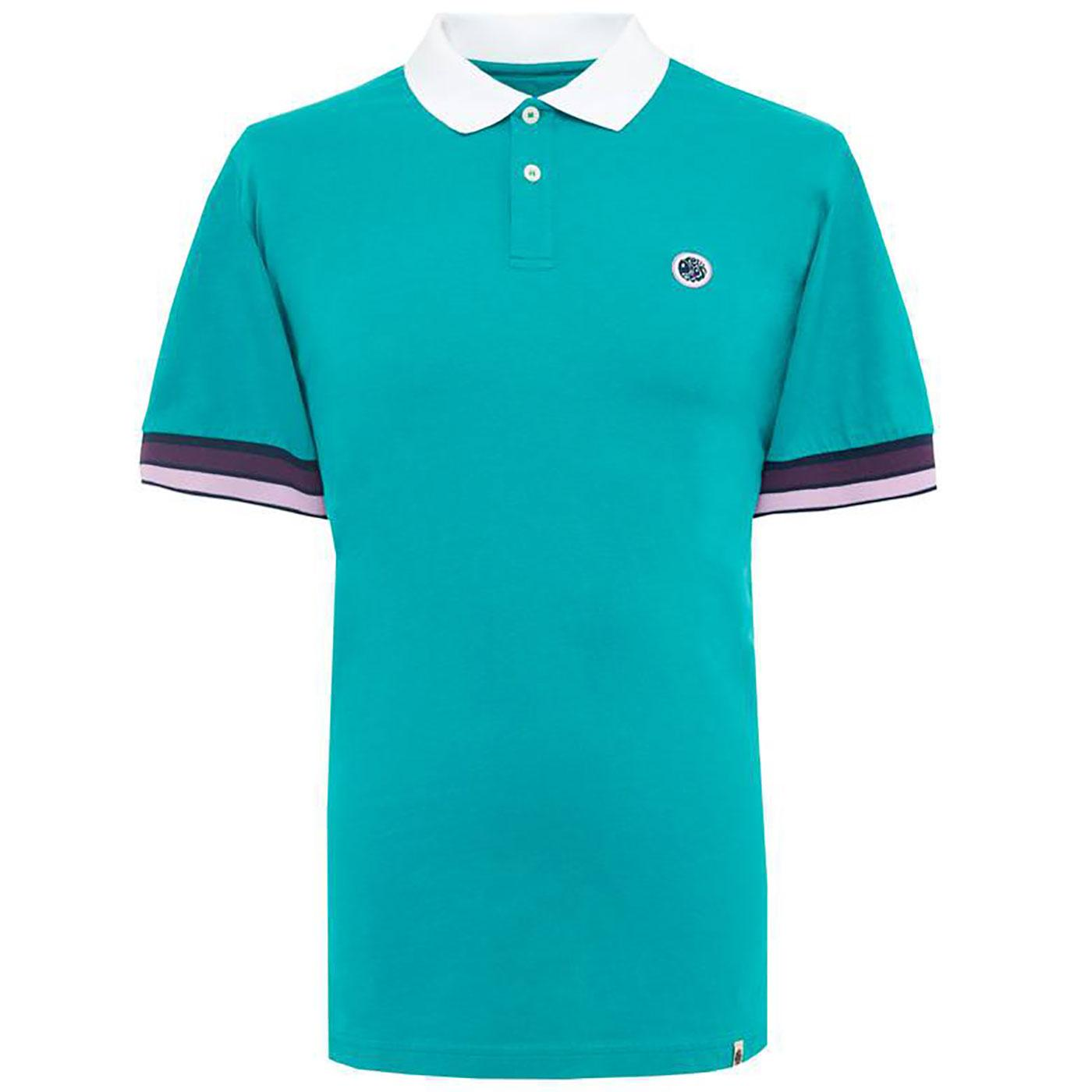 PRETTY GREEN Retro Contrast Stripe Cuff Polo Shirt