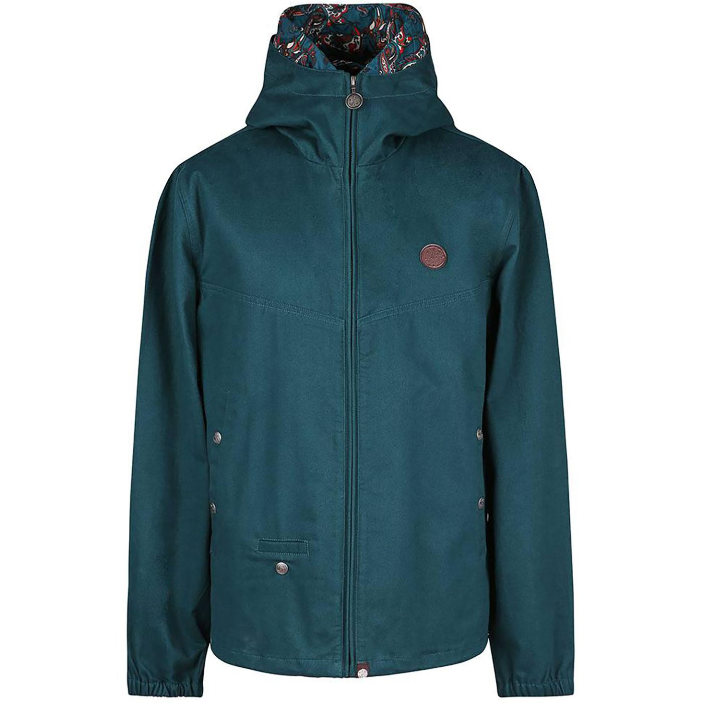 PRETTY GREEN Sixties Paisley Trim Hooded Jacket G