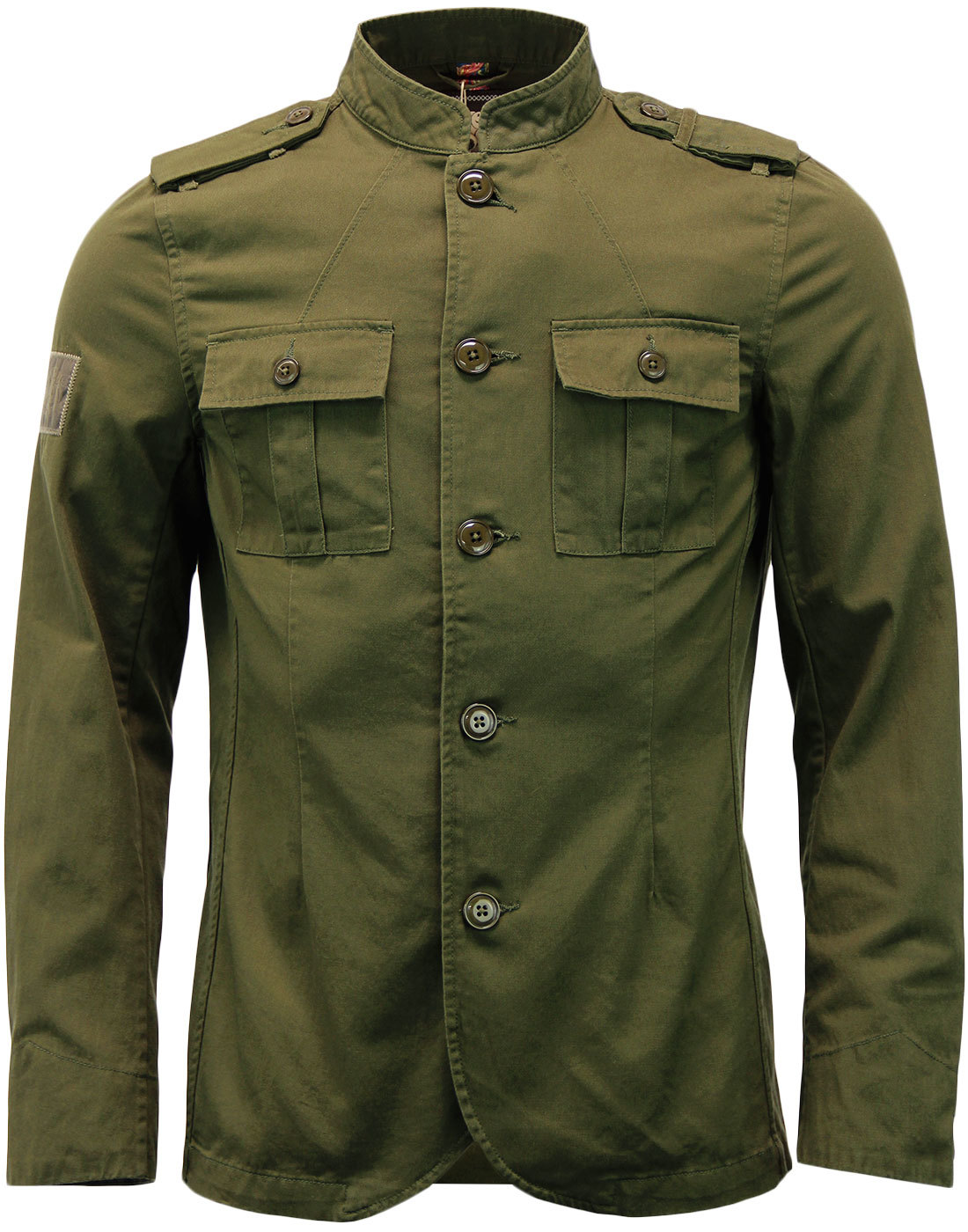 Cotton Lennon PRETTY GREEN 60s Mod Military Jacket