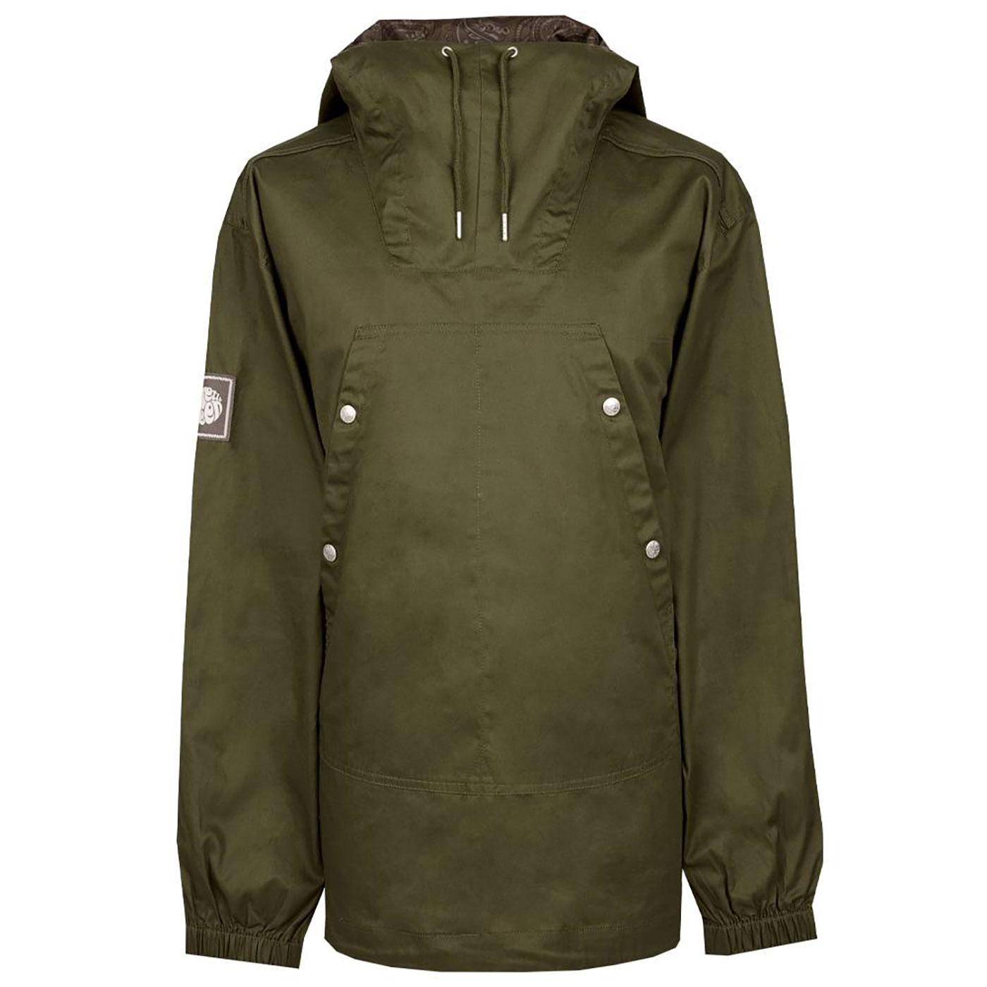 PRETTY GREEN Mens Retro 90's Overhead Jacket G