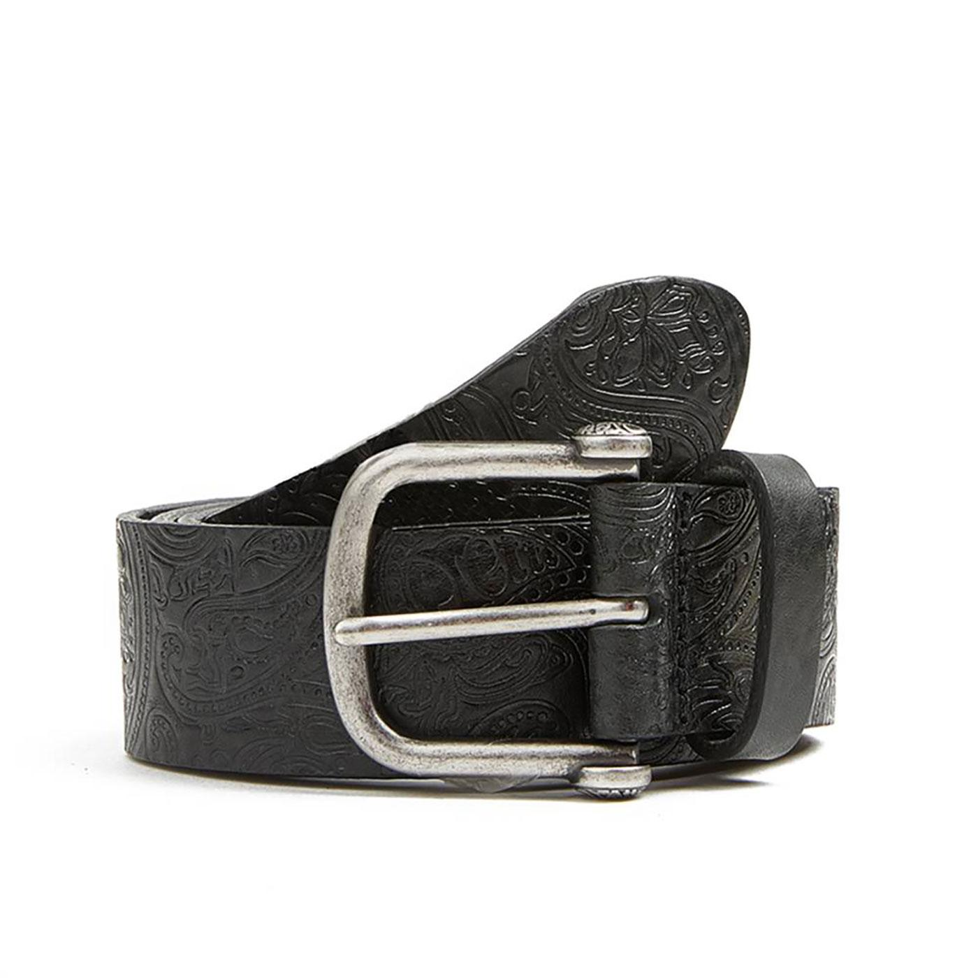 PRETTY GREEN Mod Signature Paisley Embossed Belt