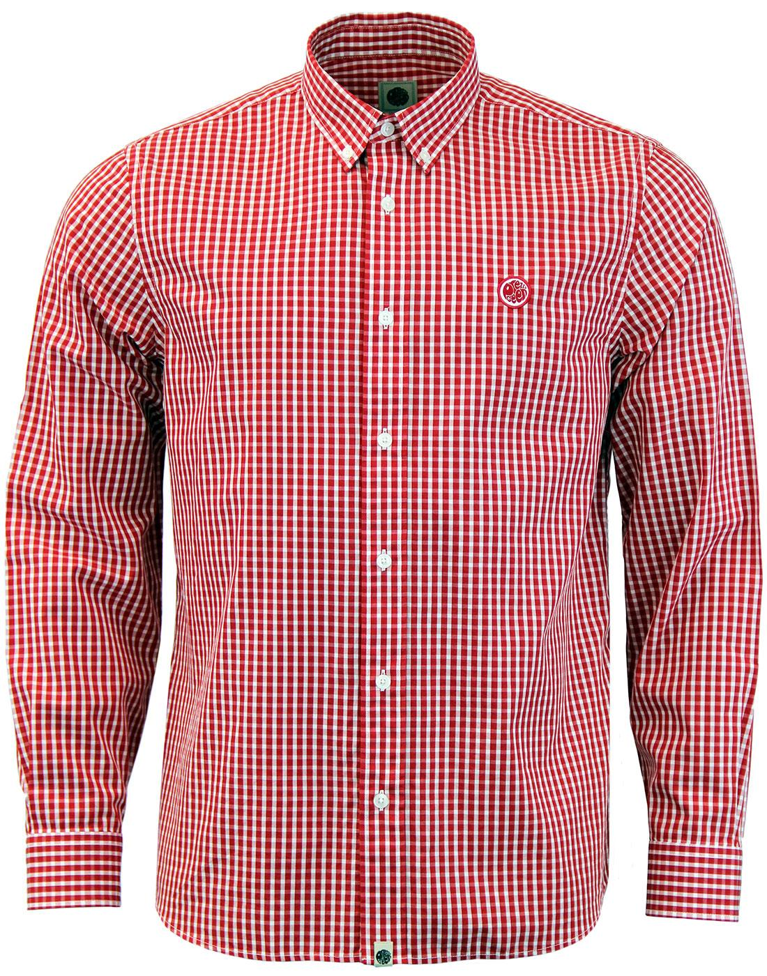Francis PRETTY GREEN Retro Gingham Check Shirt (R)