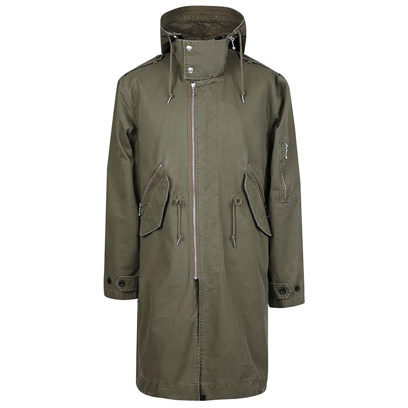PRETTY GREEN Sixties Mod Zip Through Parka Jacket