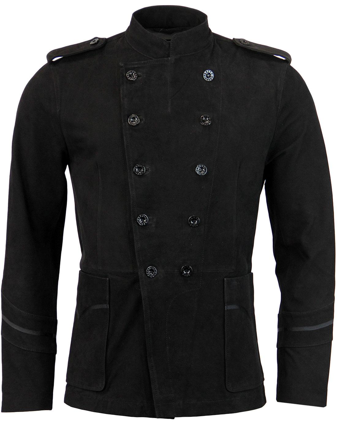 Jinny PRETTY GREEN Retro Mod Suede Military Jacket