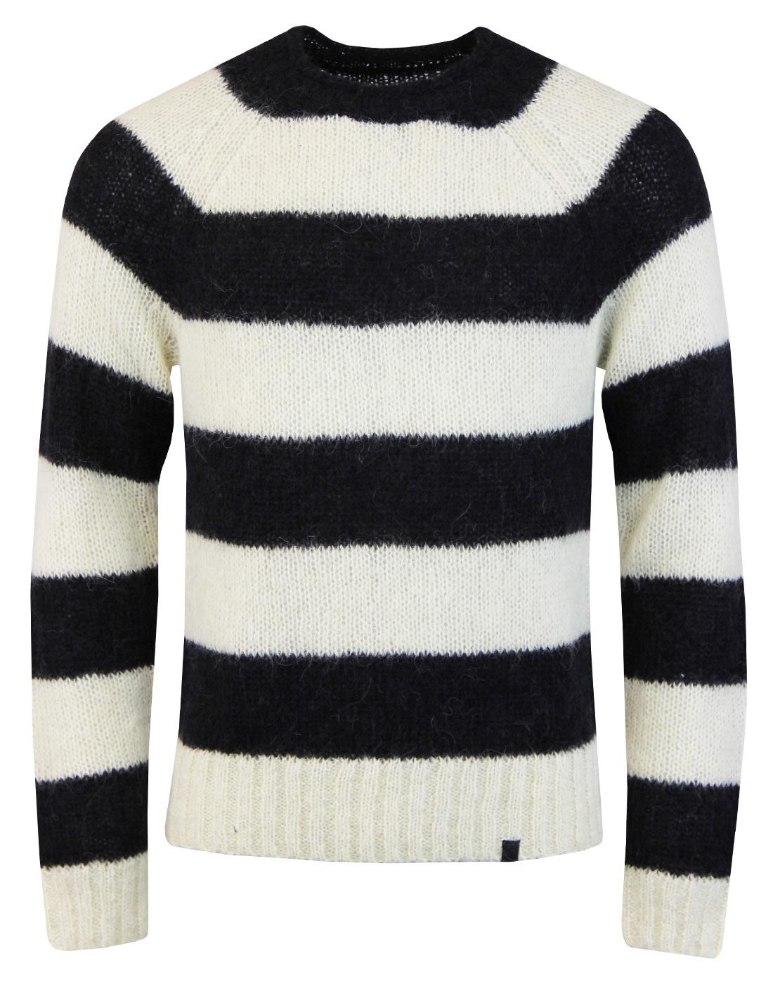 Scream PRETTY GREEN Retro Mod Block Stripe Jumper