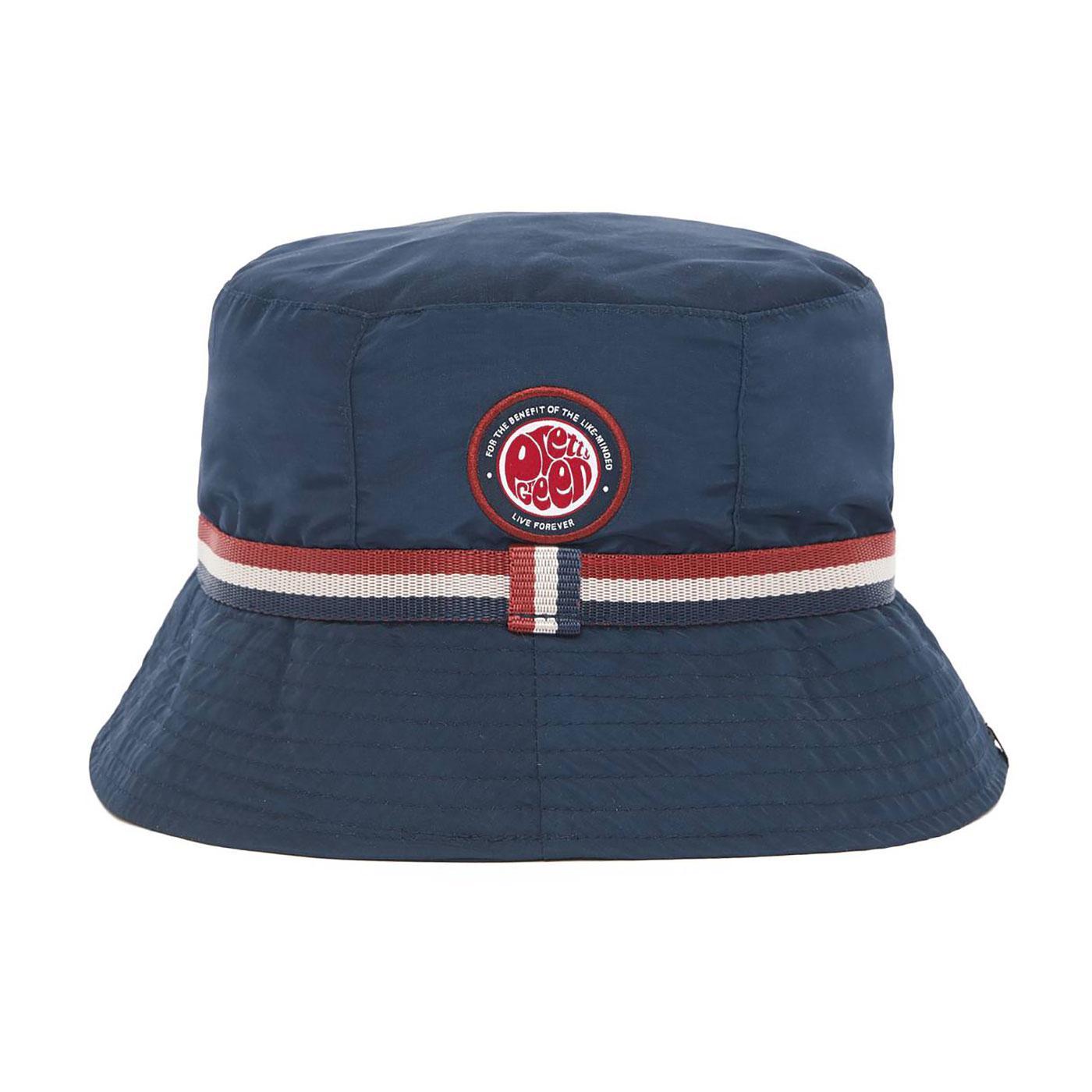 PRETTY GREEN Retro Like Minded Badge Bucket Hat