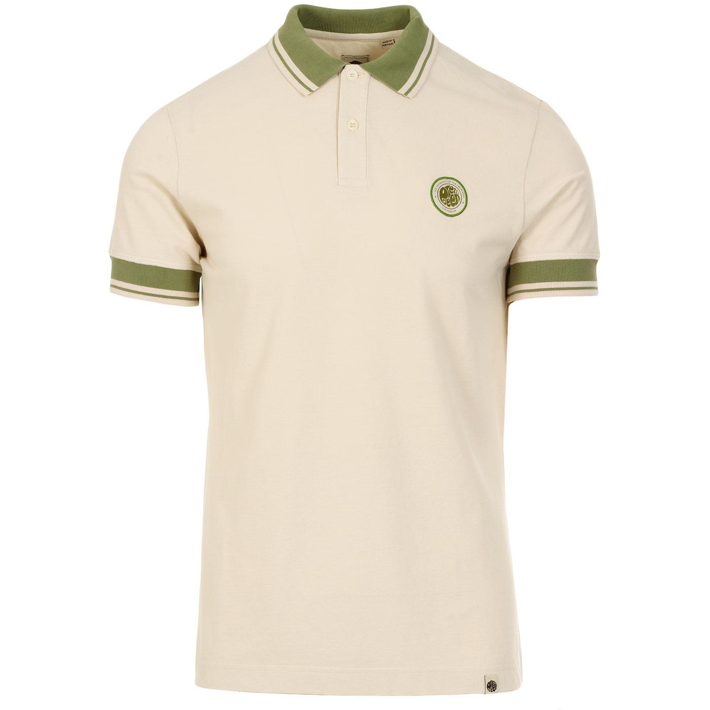 PRETTY GREEN Likeminded Contrast Collar Badge Polo