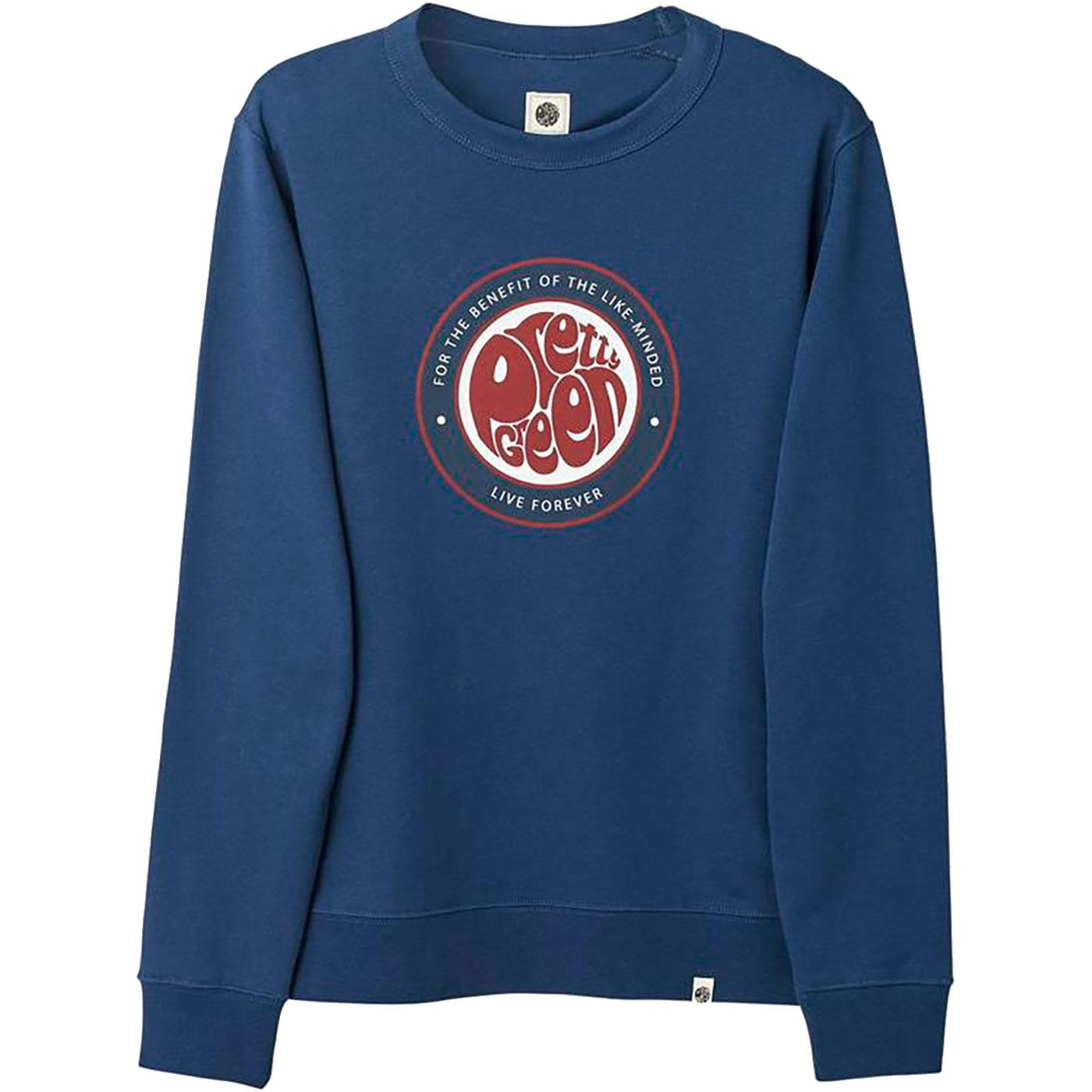 PRETTY GREEN Likeminded Logo Crew Sweatshirt N