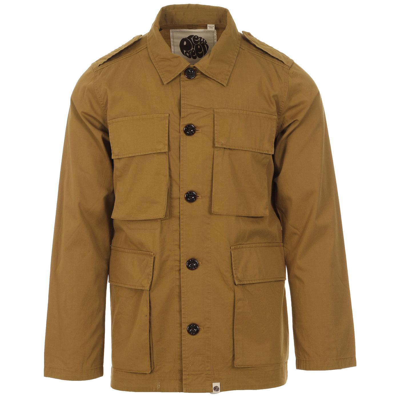 PRETTY GREEN Mod 4 Pocket Military Field Jacket