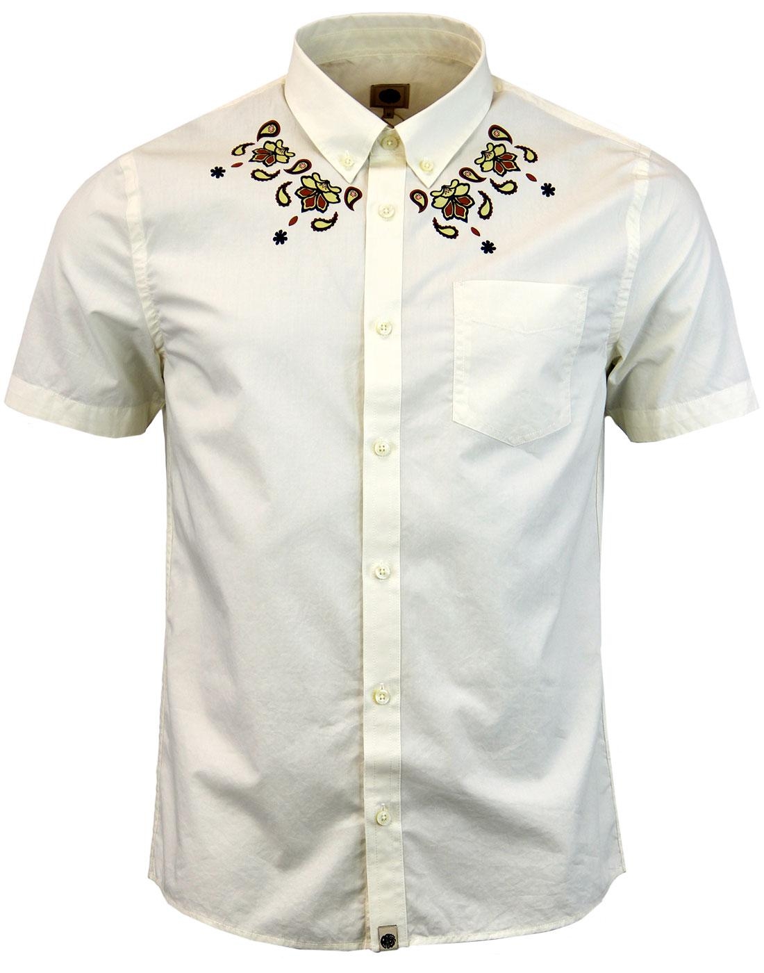 Ordsall PRETTY GREEN Retro Mod Paisley 60s Shirt