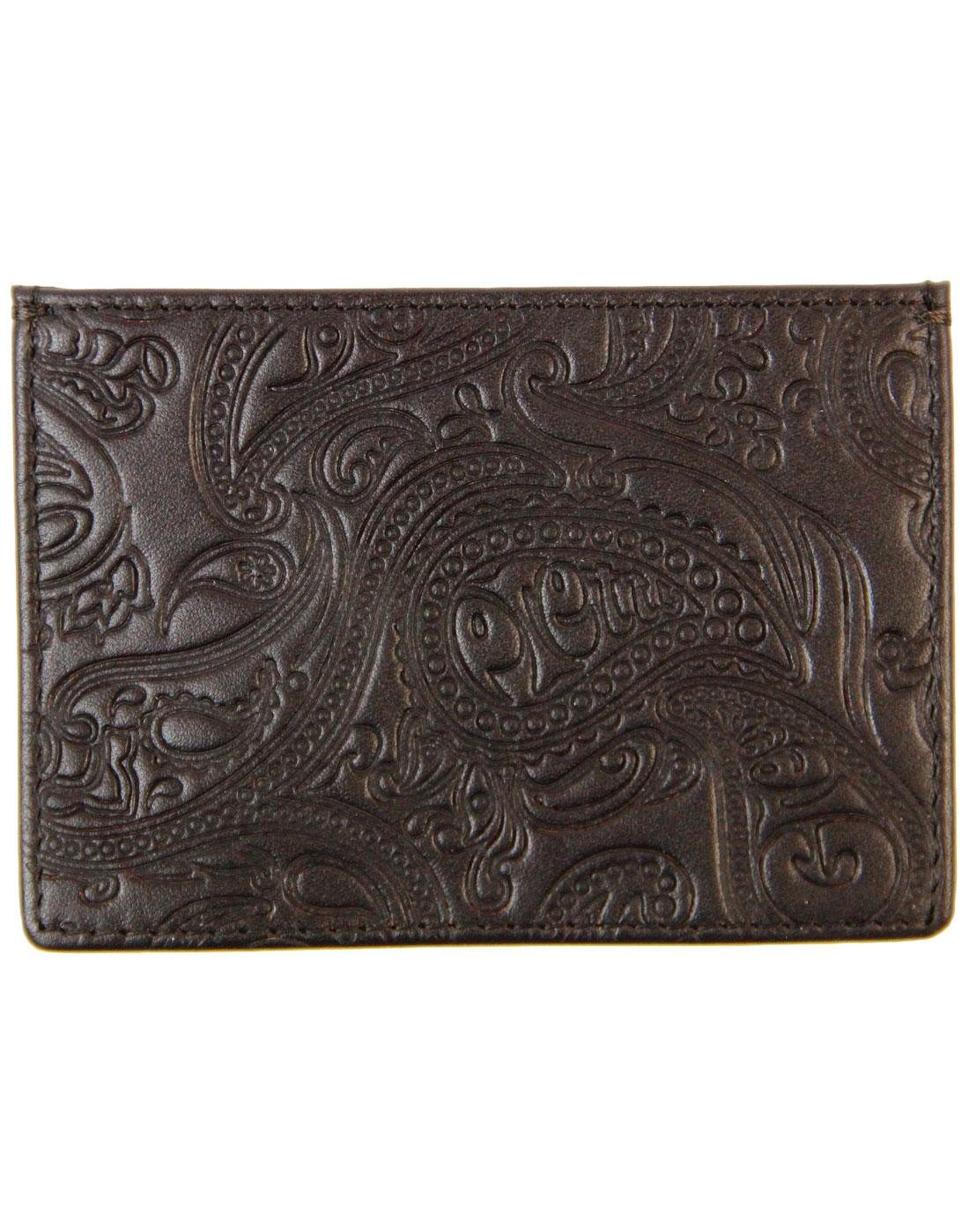 PRETTY GREEN Retro Embossed Paisley Cardholder BR
