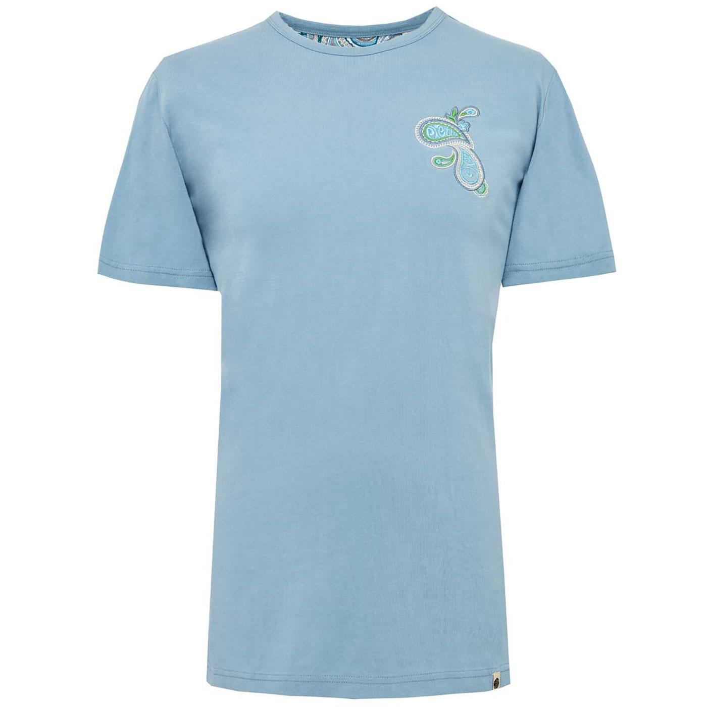 PRETTY GREEN Embroidered Paisley Chest Logo Tee