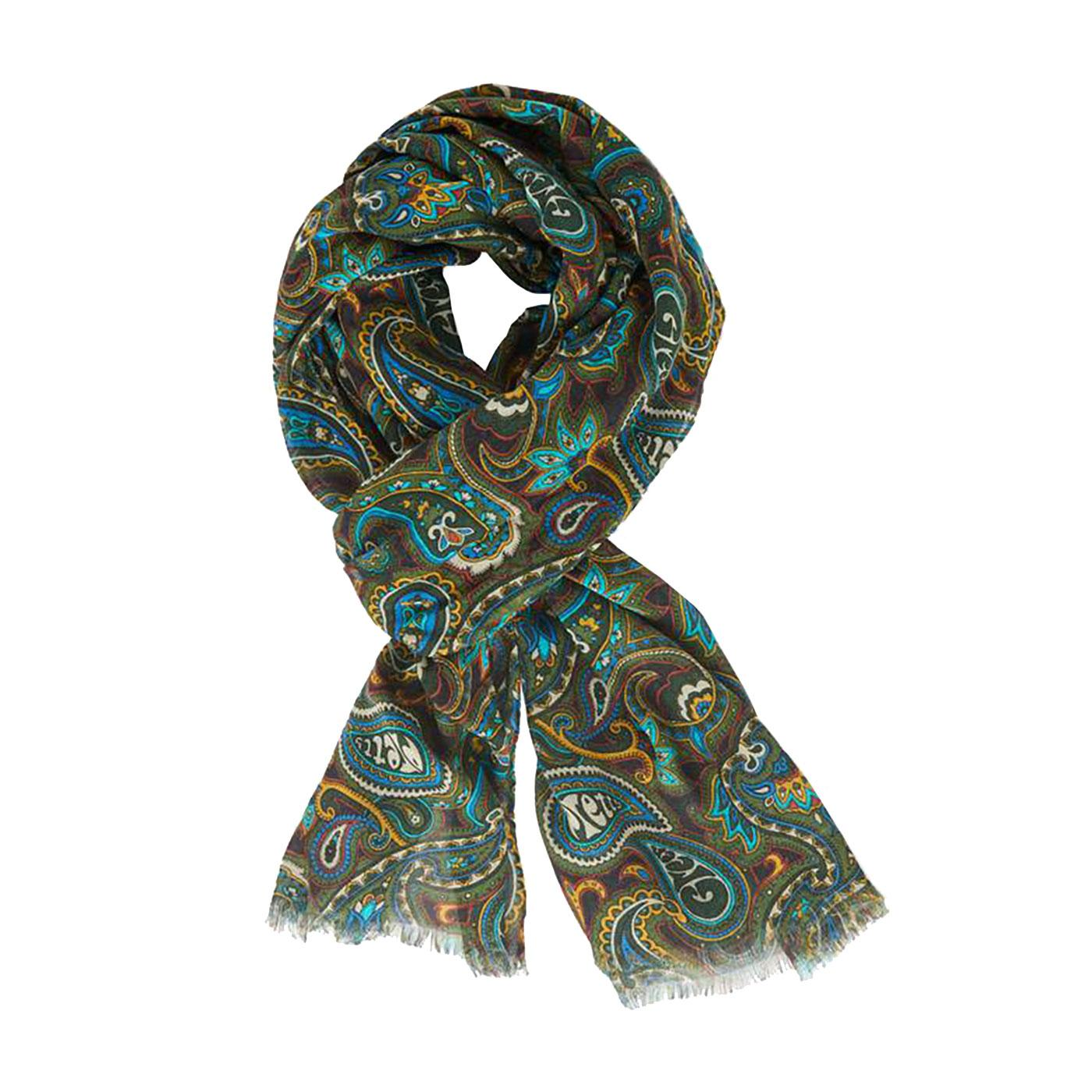 PRETTY GREEN Sixties Mod Signature Paisley Scarf