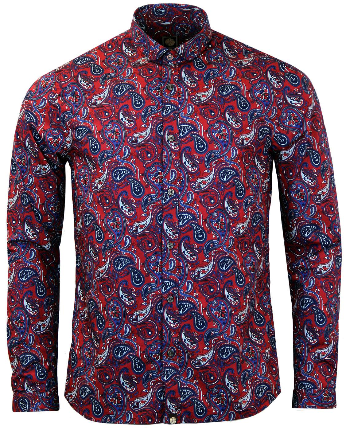 Sefton PRETTY GREEN Mod Psychedelic Paisley Shirt