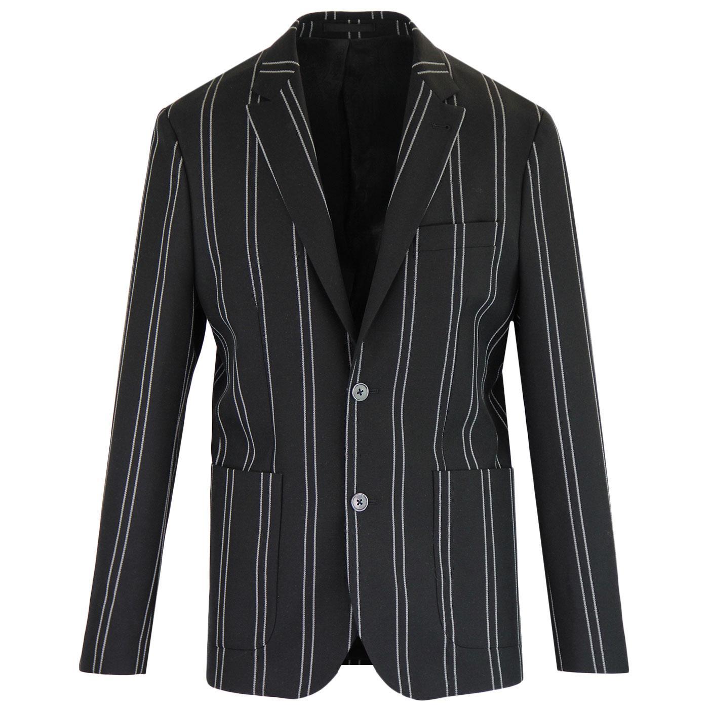 PRETTY GREEN Black Label Mod Pinstripe Suit Jacket