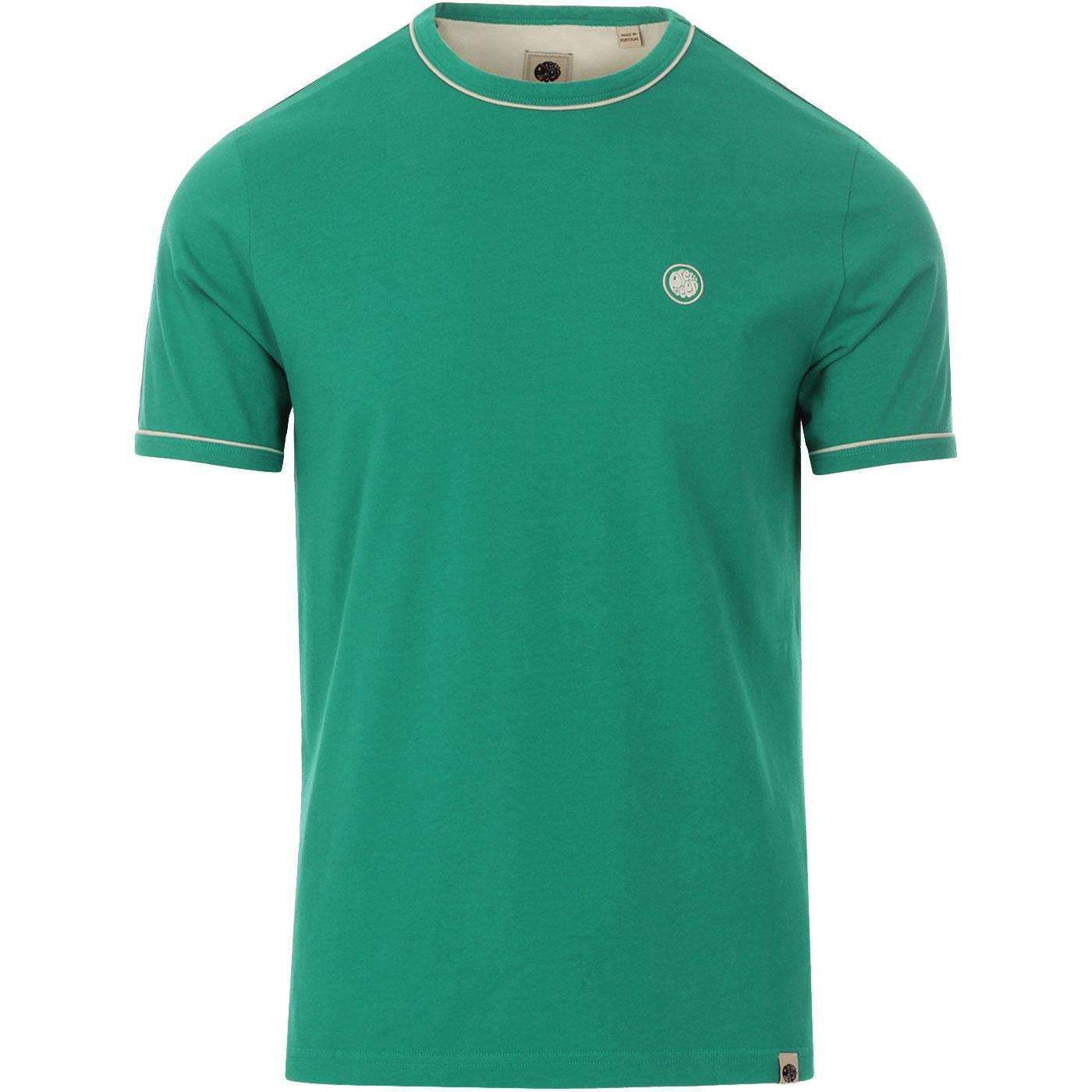 PRETTY GREEN Mens Retro Contrast Piping Ringer Tee
