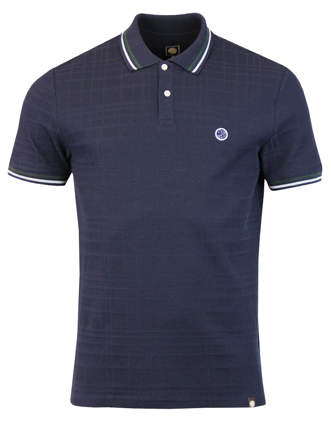 Arlow PRETTY GREEN 60s Mod Rib Check Polo Top DN